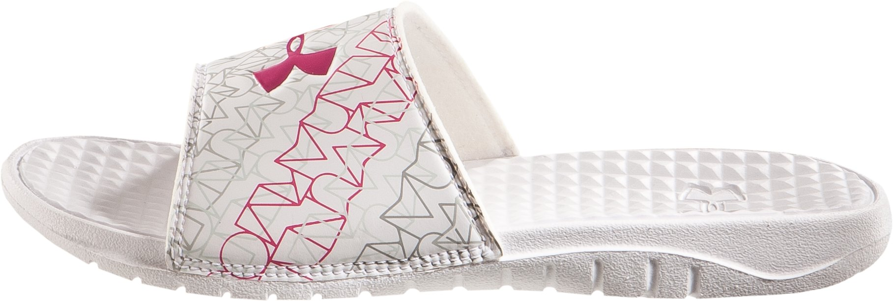 Girls' UA Rally III Slide, White, zoomed image