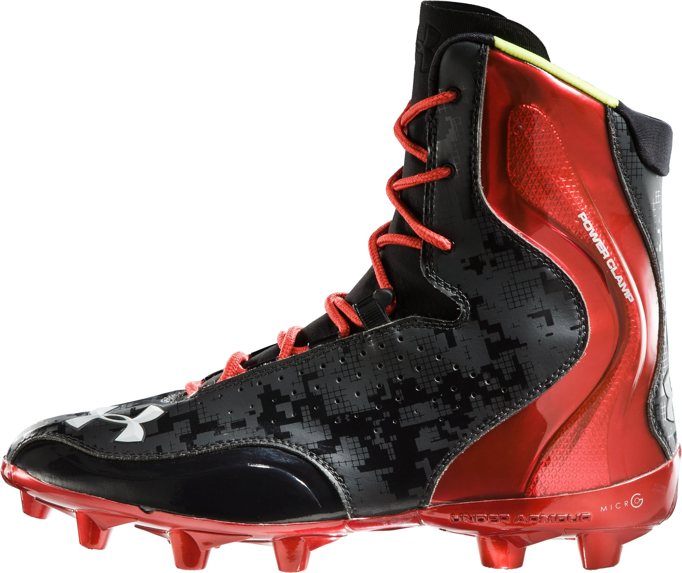 Men's UA Brawler Football Cleats, Black , zoomed image
