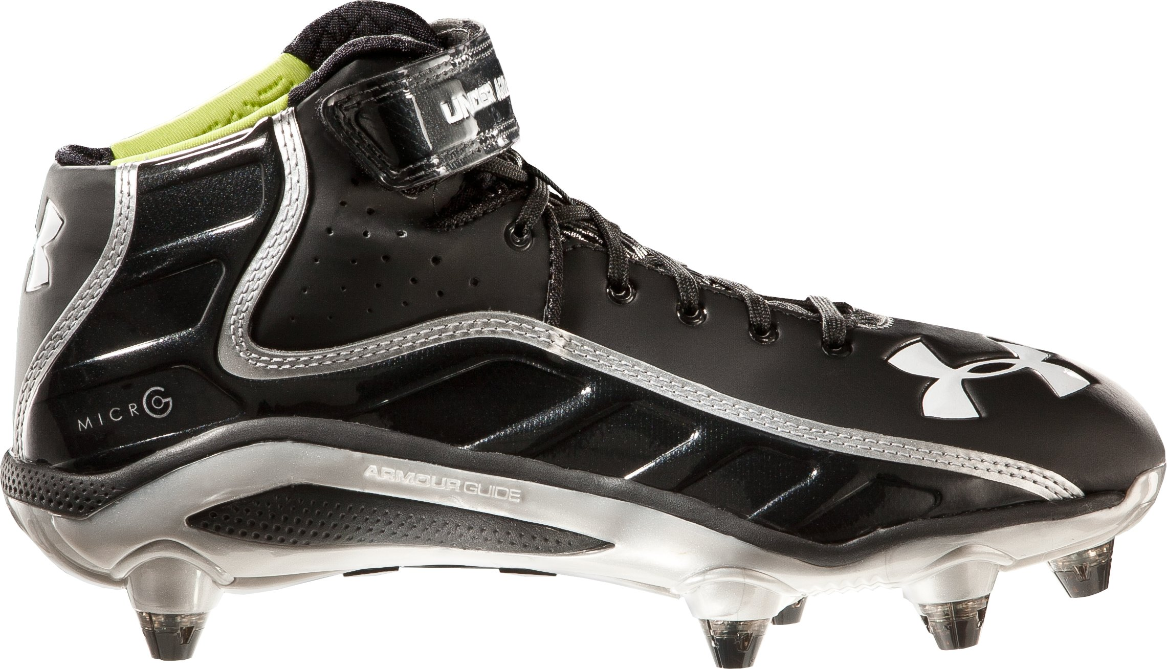 Men's UA Fierce Havoc Mid D Football Cleats, Black , zoomed image