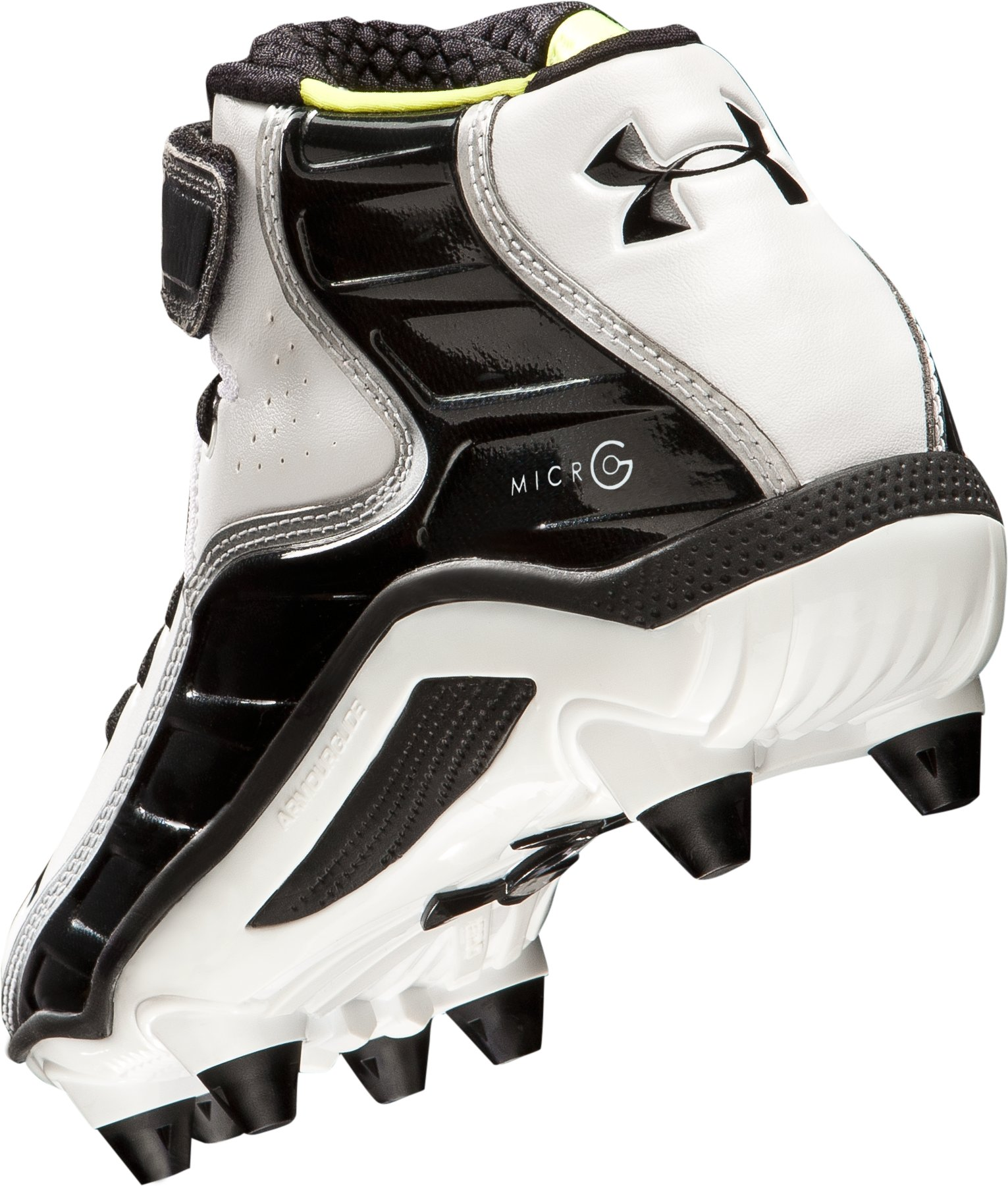 Men's UA Fierce Havoc Mid D Football Cleats, White