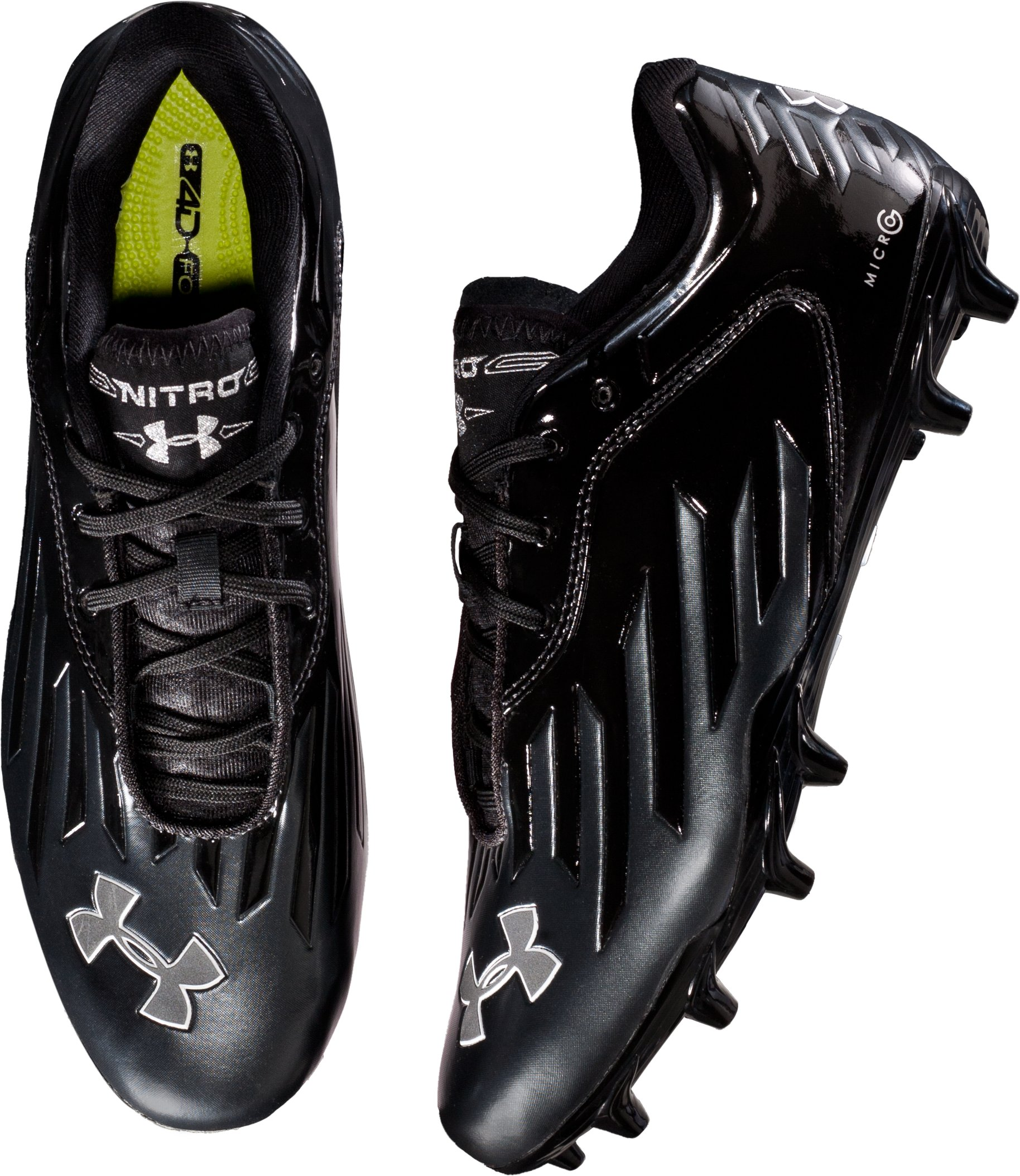 Men's UA Nitro Diablo Low MC Football Cleats, Black