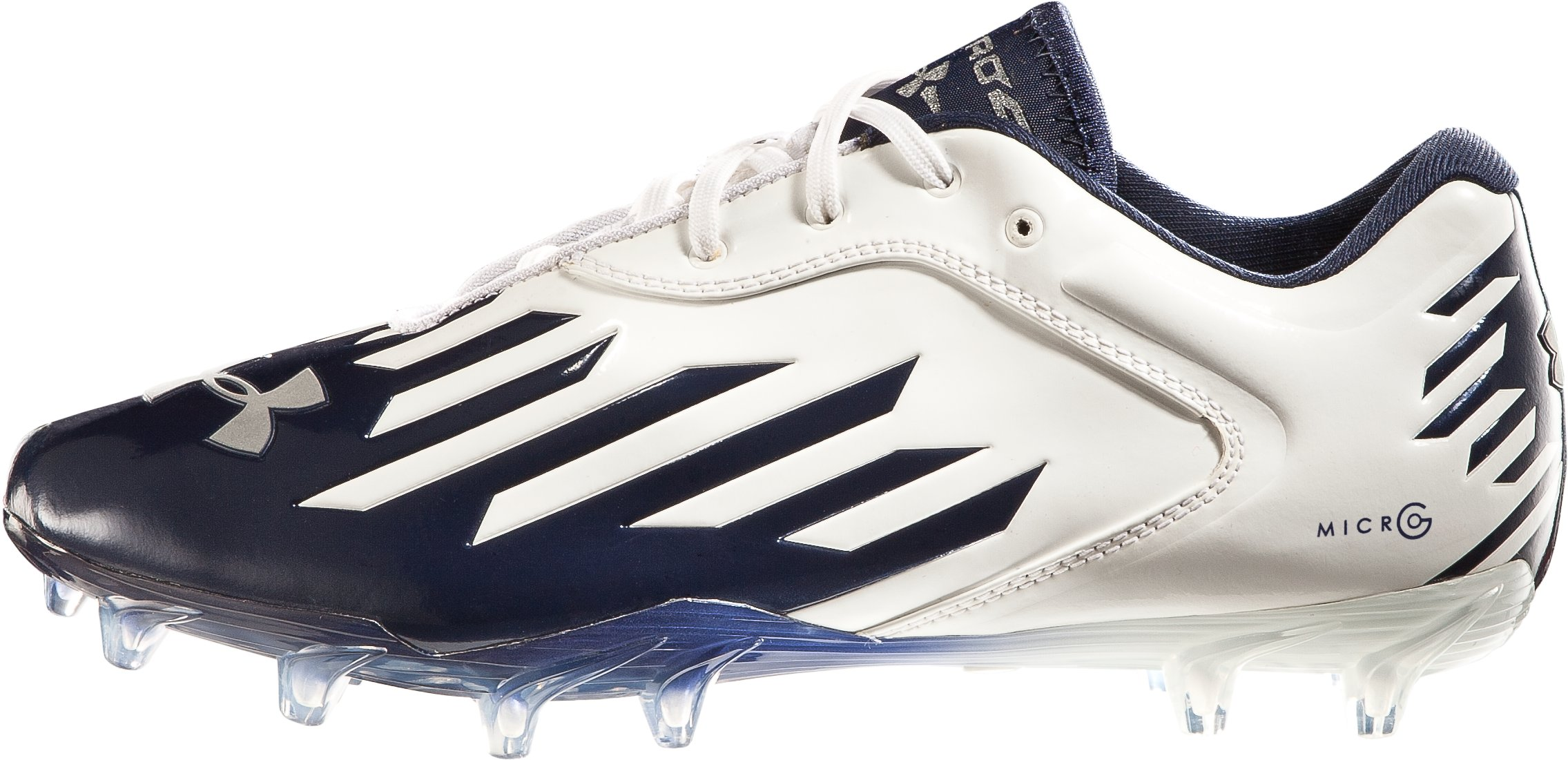 Men's UA Nitro Diablo Low MC Football Cleats, White, zoomed image