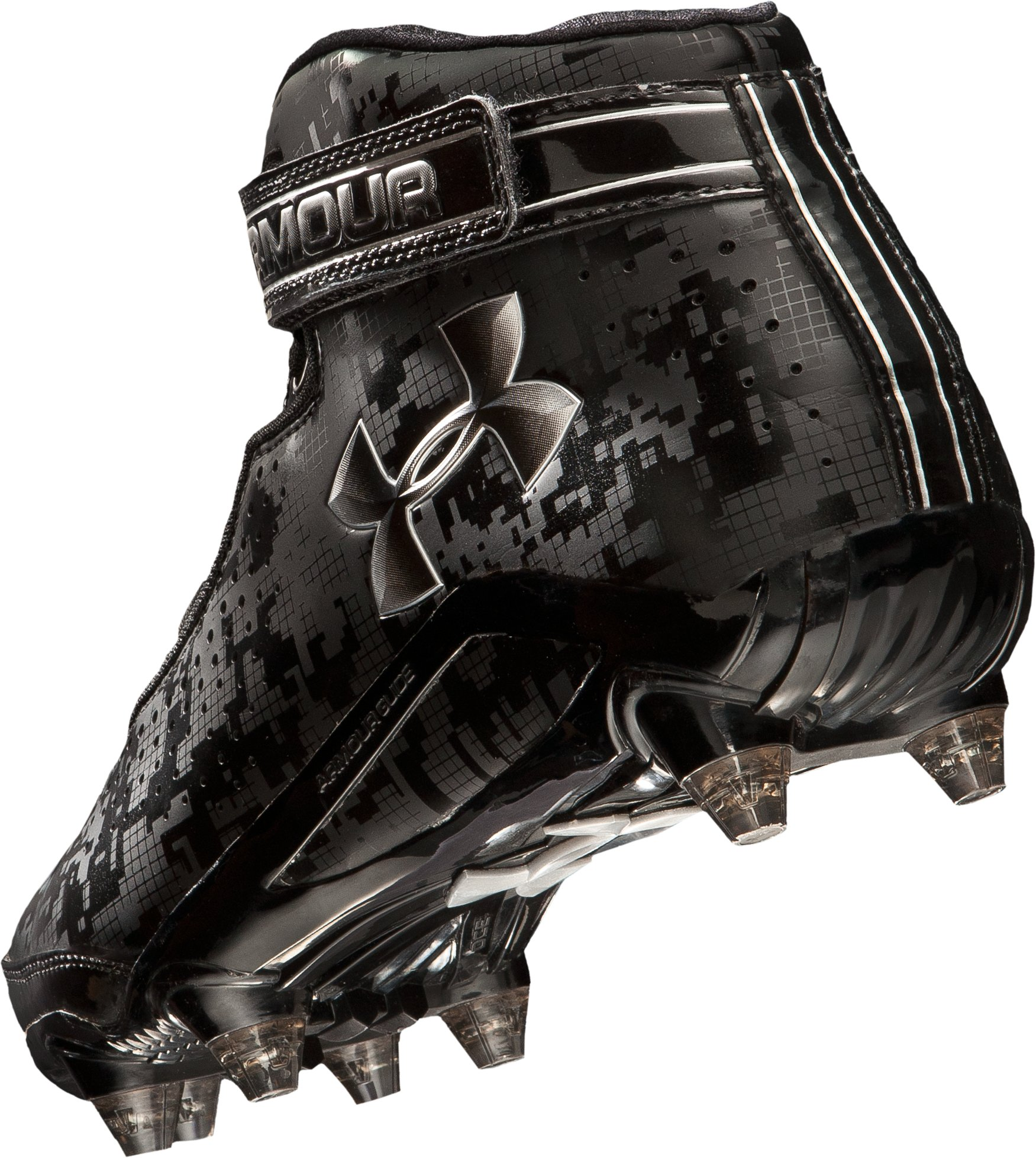Men's UA Run 'N Gun D Football Cleats, Black