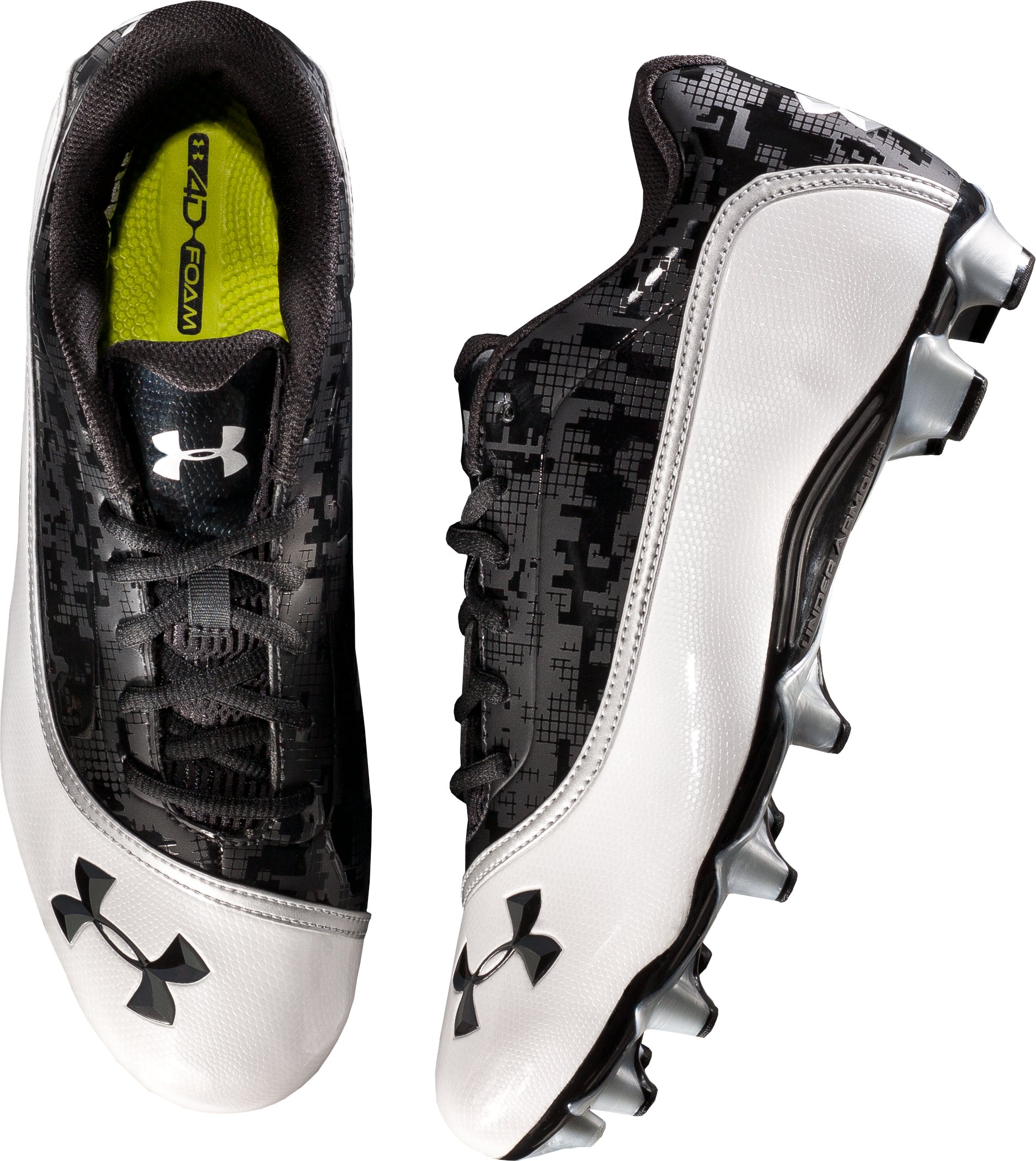 Men's UA Blur Phantom Low MC Football Cleats, Black