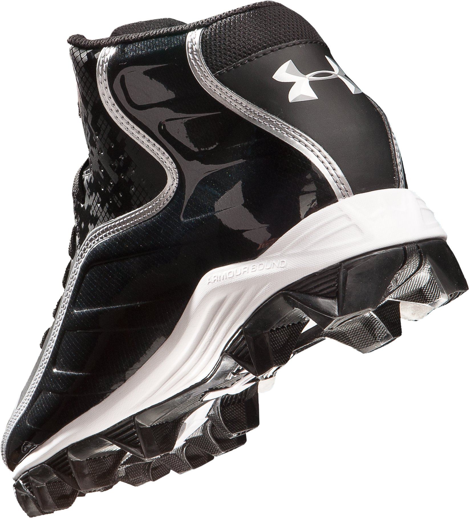 Men's UA Hammer Mid Football Cleats, Black , undefined