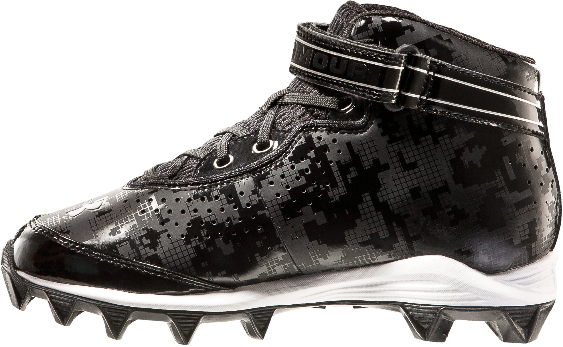 Boys' UA Crusher Football Cleats, Black , undefined