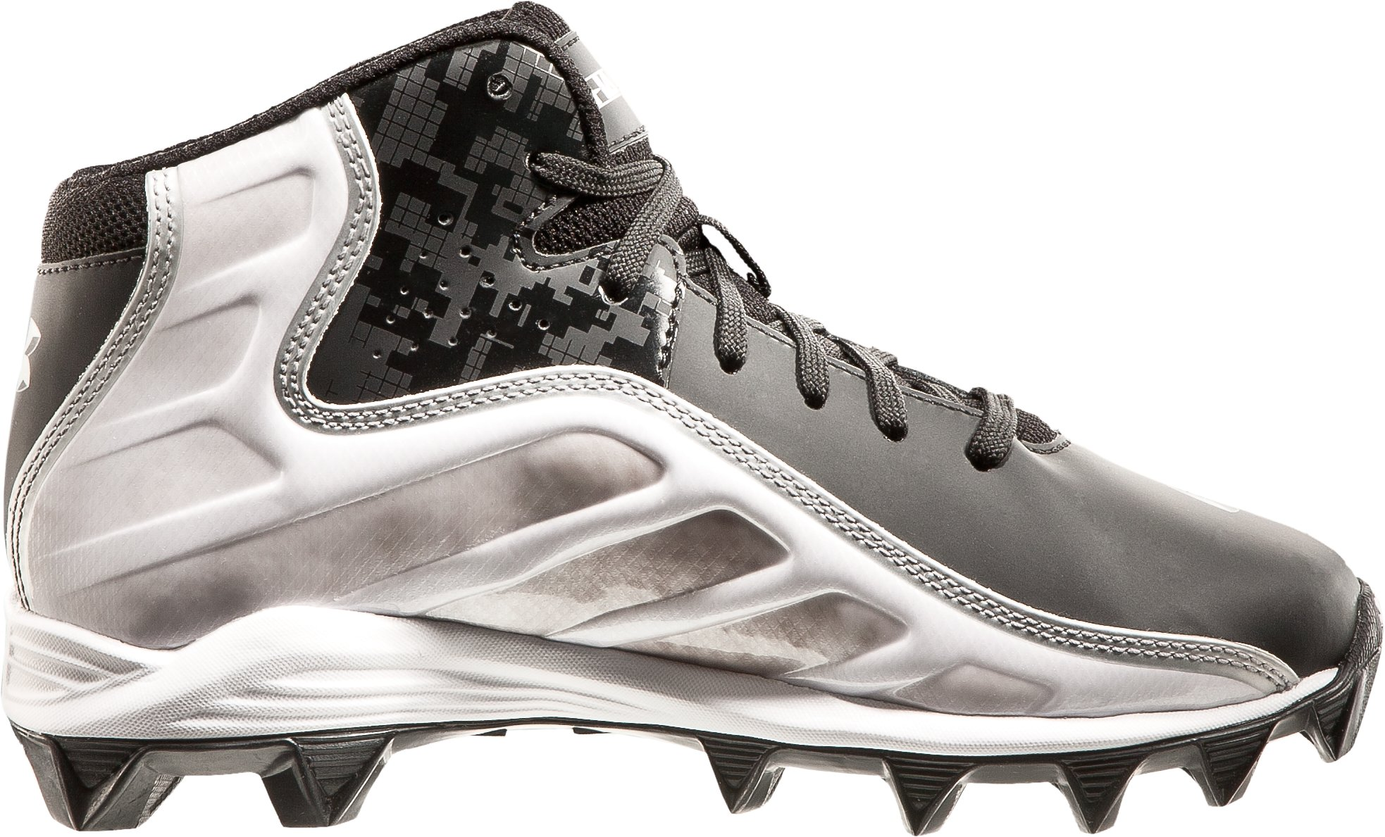 Boys' UA Hammer Mid Football Cleats, Black , undefined