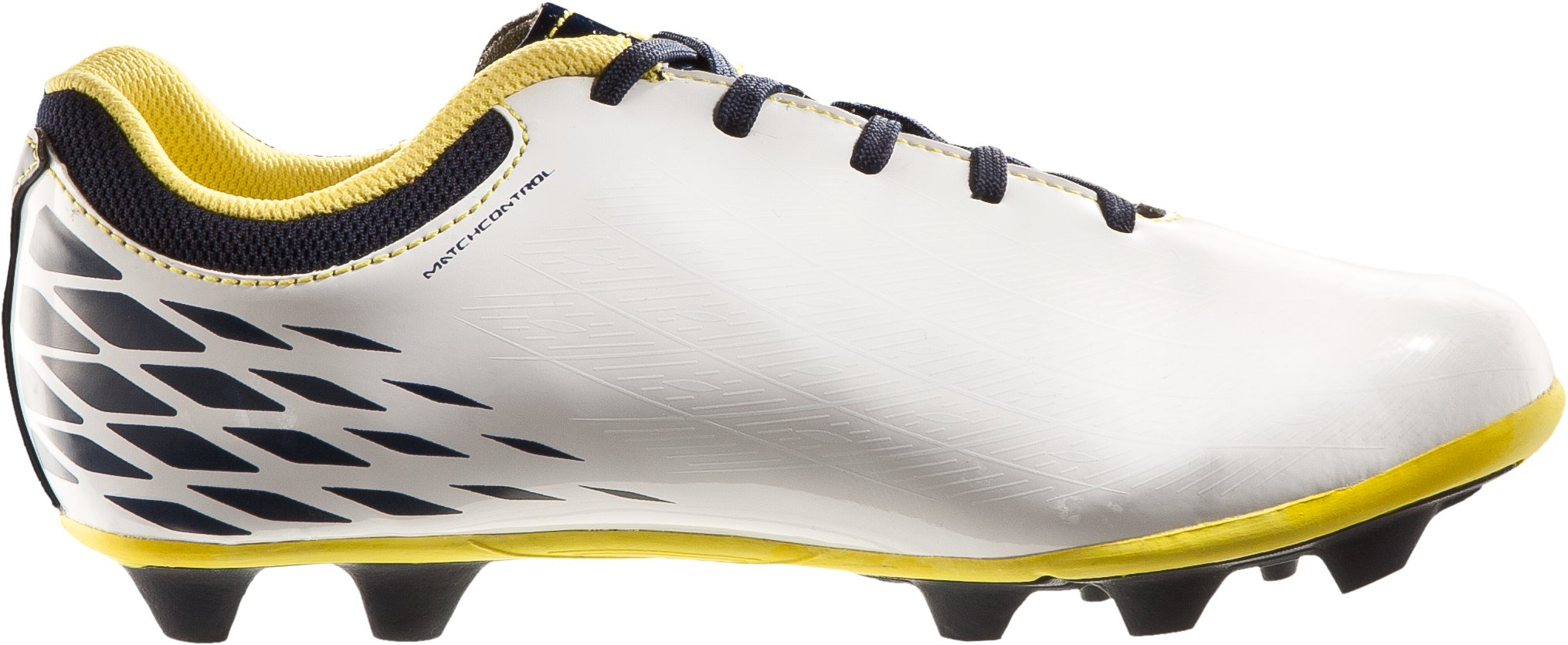 Boy's UA Force II HG Jr Soccer Cleats, White