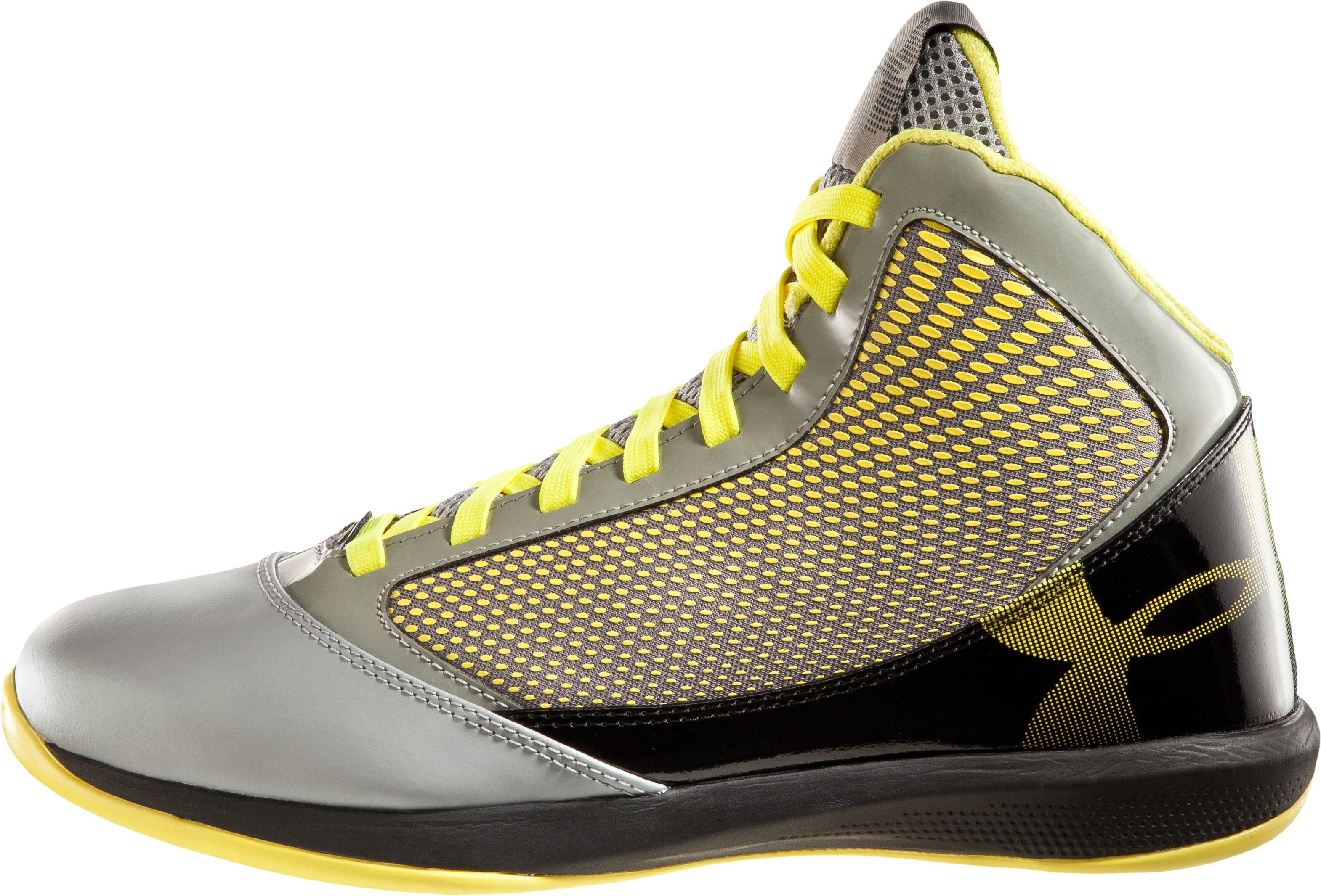 Men's UA Jet Basketball Shoes, Steel, zoomed image