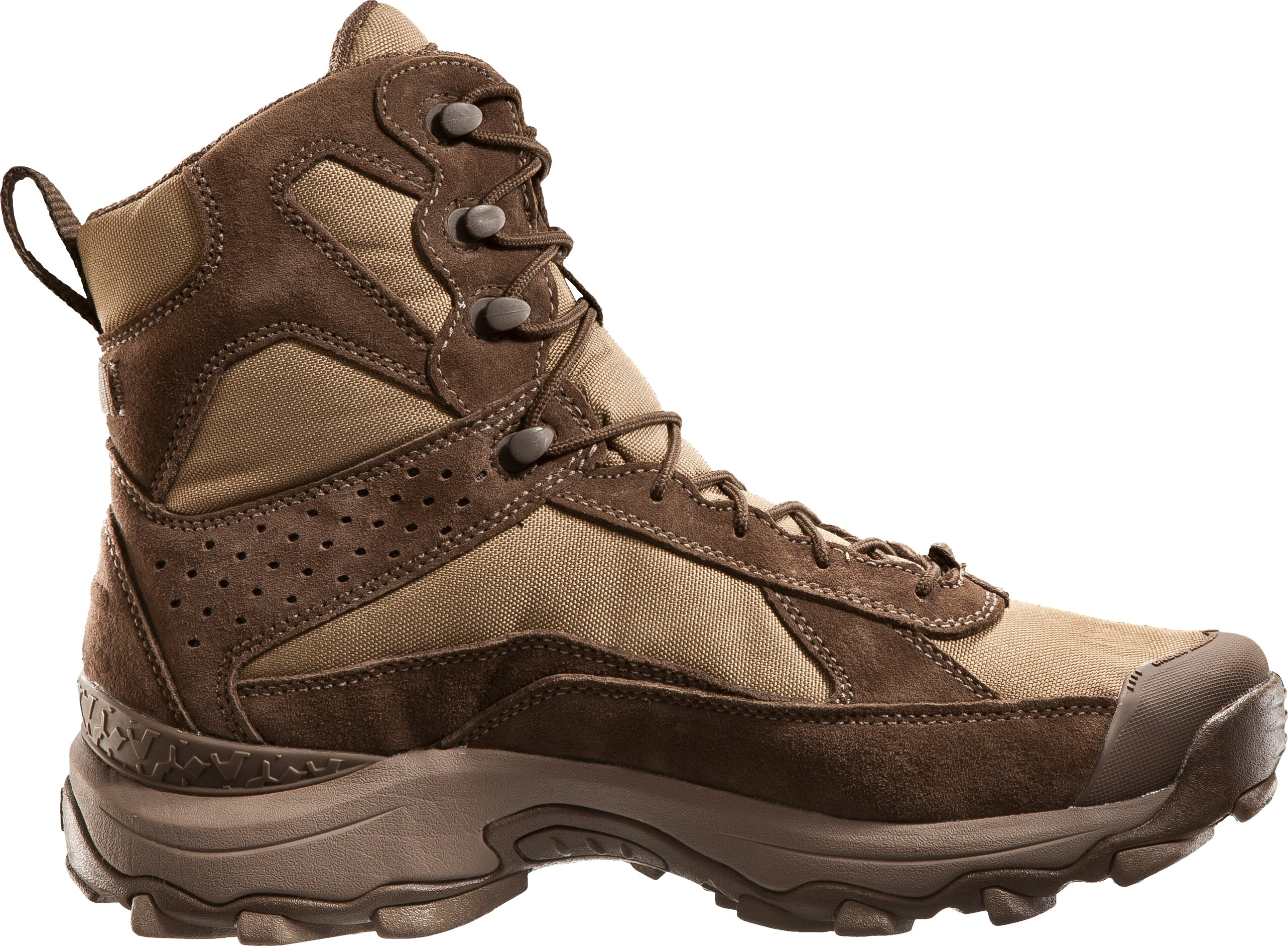 "Men's UA Speed Freek 7"" Boots, Fossil Brown"