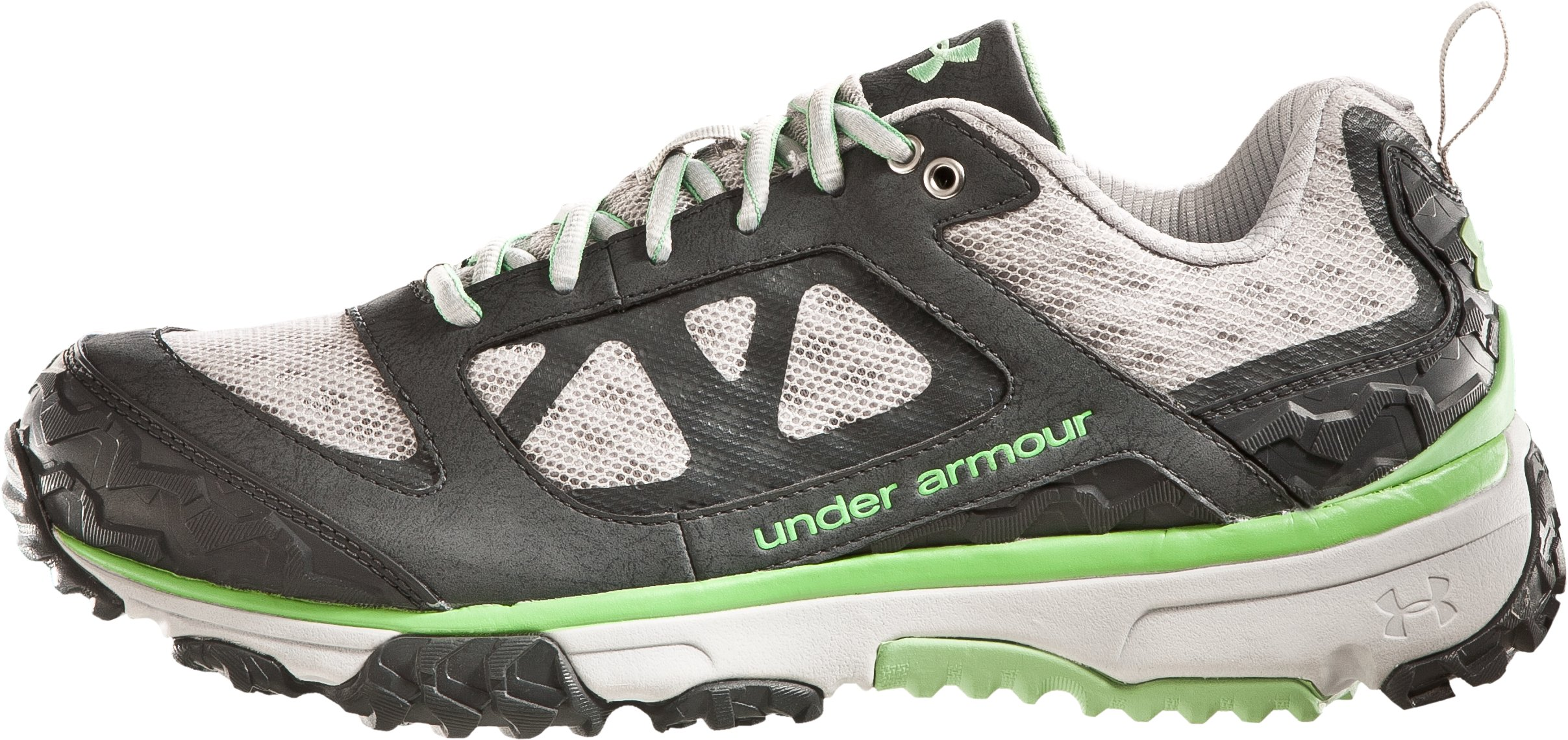 Women's UA Ridge Scan Off Road Trail Shoes, Titanium, undefined