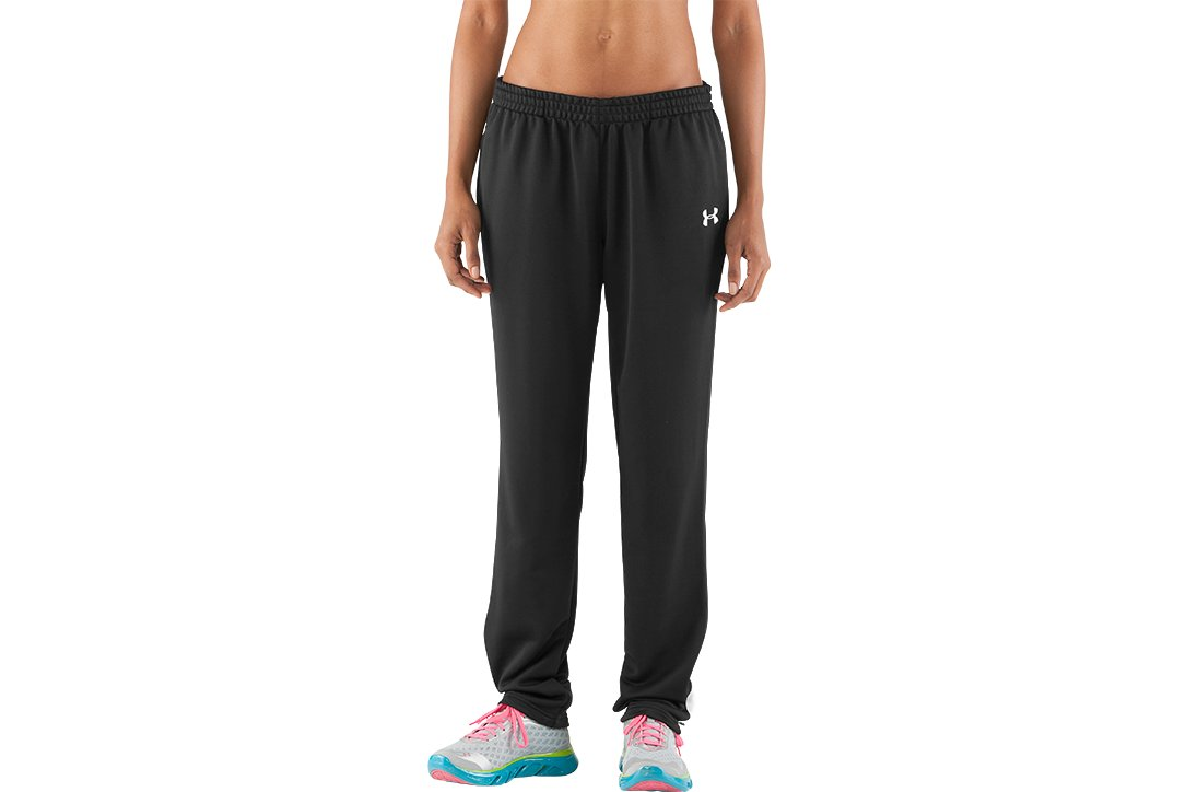 Women's Classic Knit Warm-Up Pants, Black , zoomed image