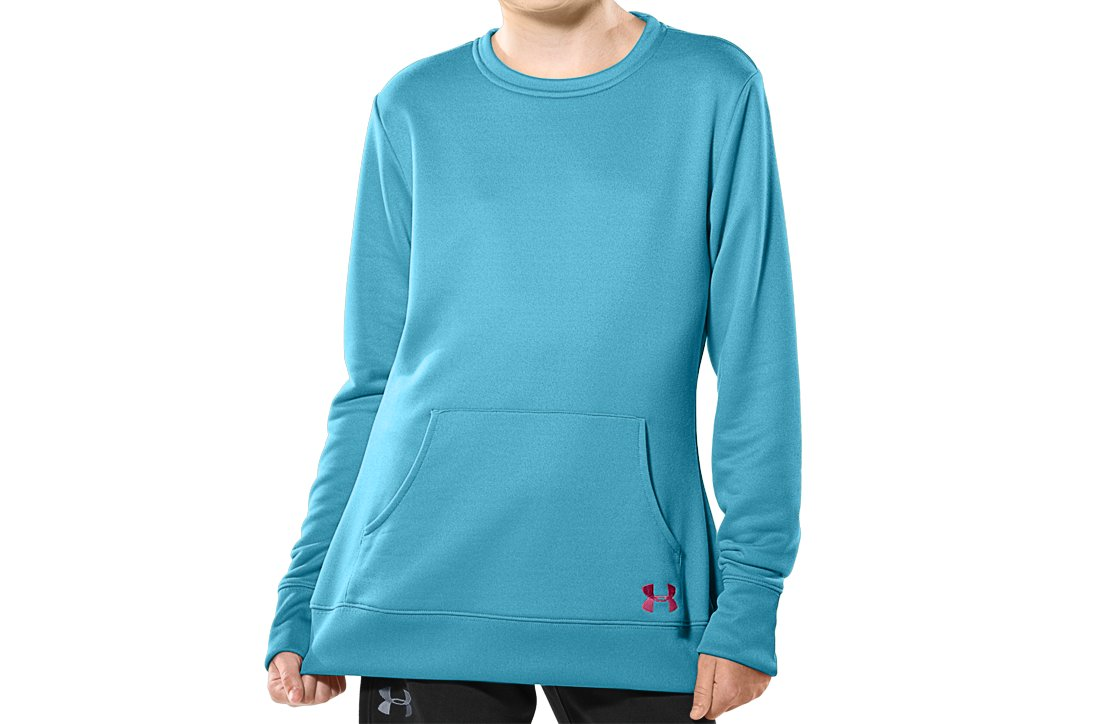 Girls' Long Sleeve French Terry Crew, Tobago