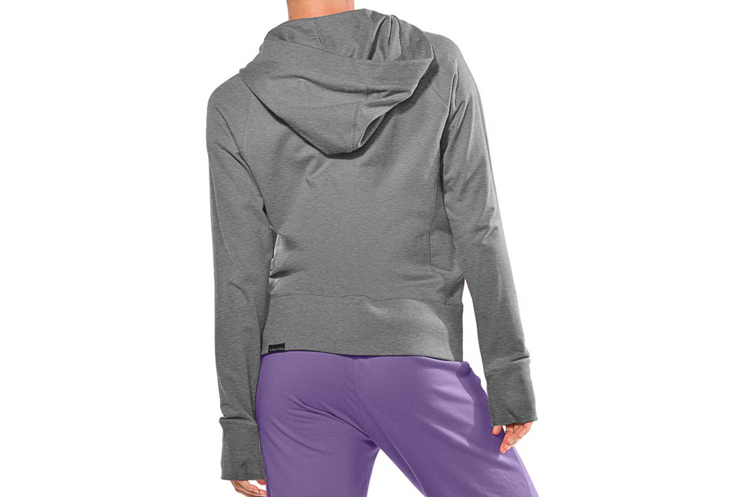 Women's UA Light Charged Cotton® Storm Full Zip, True Gray Heather