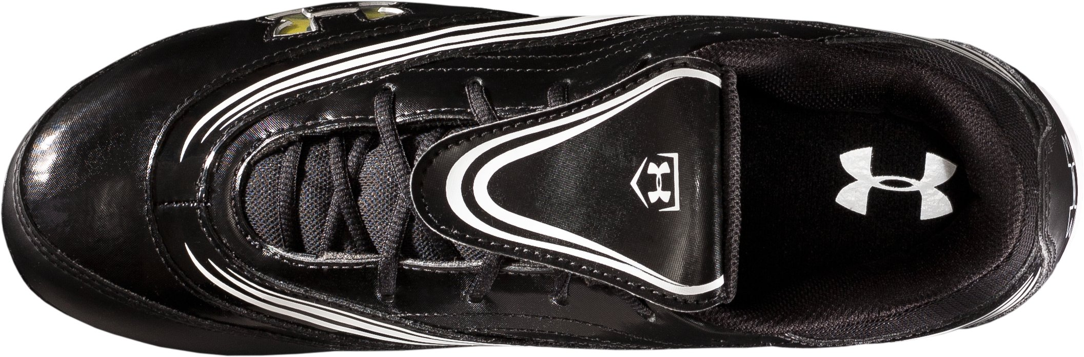 Women's UA Glyde IV Customizable Molded Softball Cleats, Black