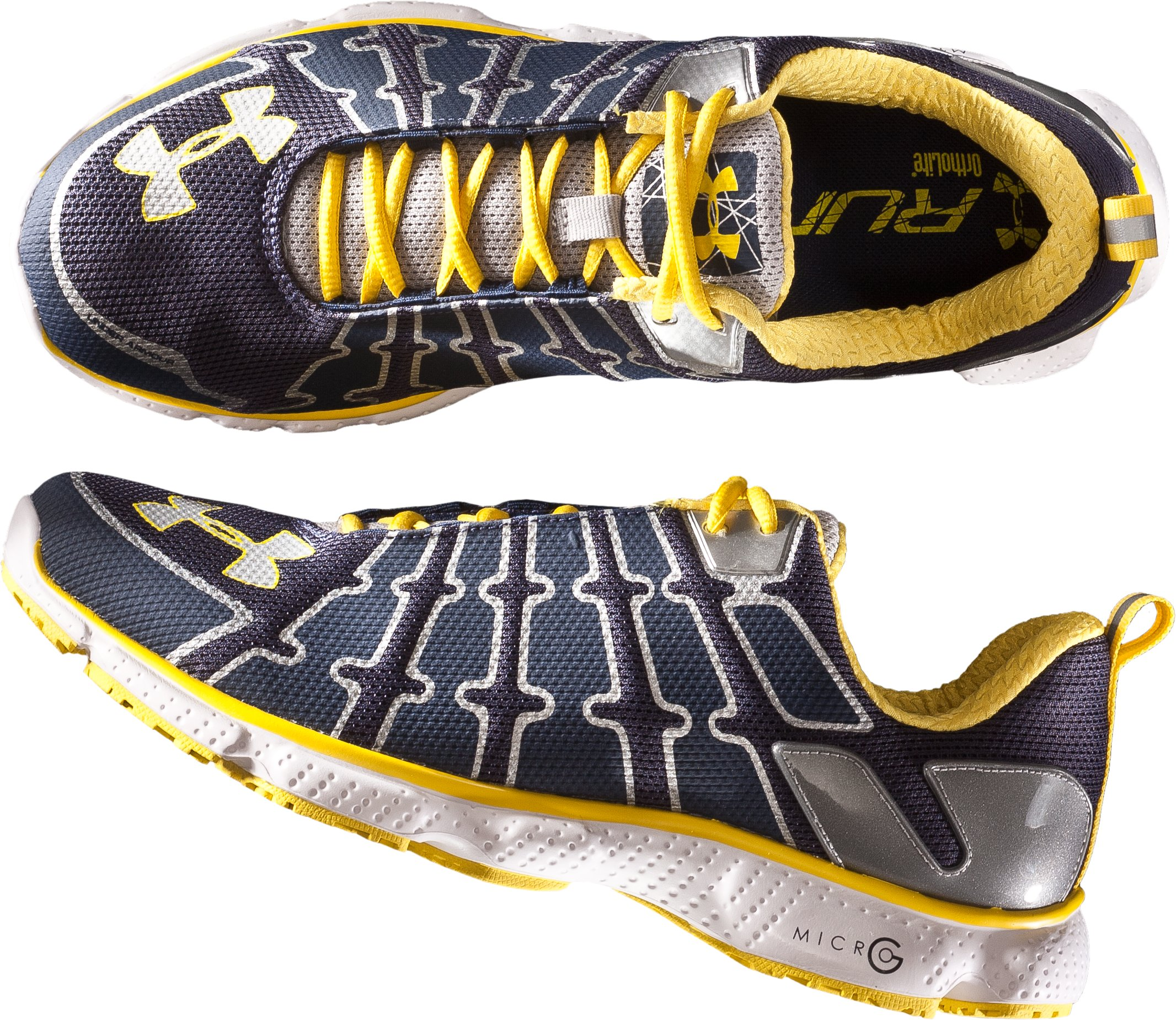 Men's UA Micro G® Domino Running Shoe, Midnight Navy