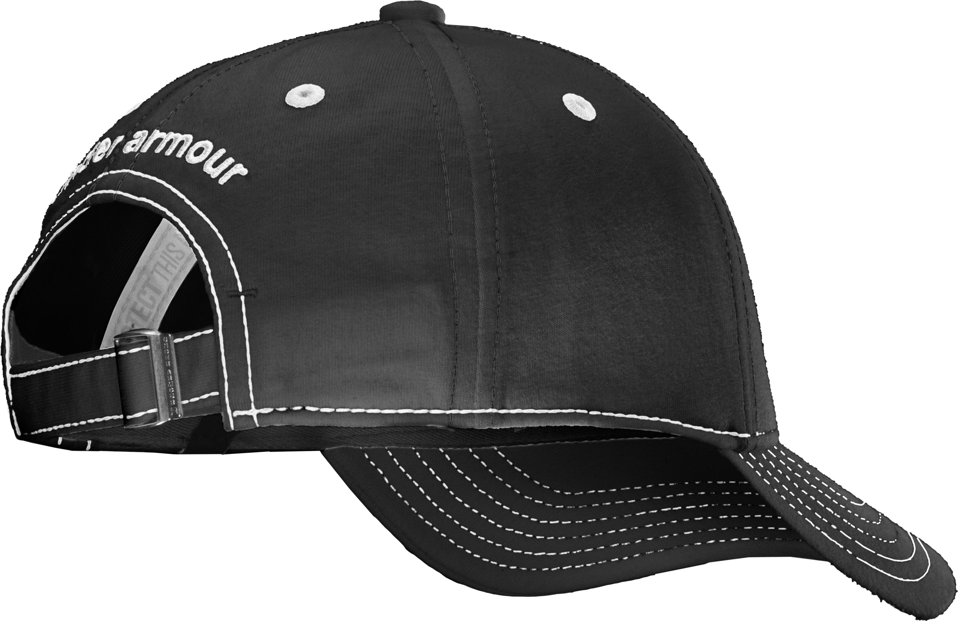 Boys' UA Charged Cotton® Adjustable Fit Cap, Black