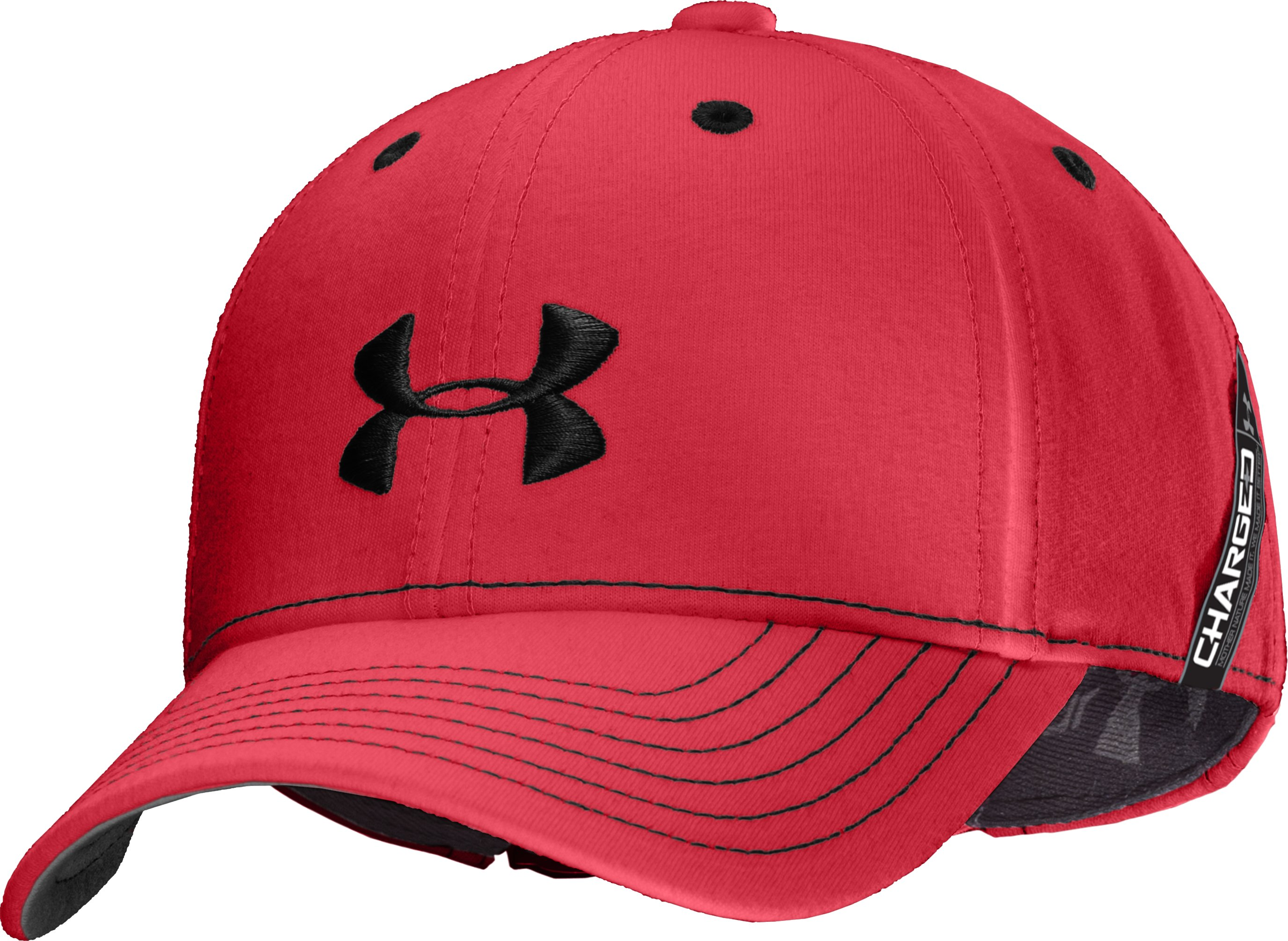 Boys' UA Charged Cotton® Adjustable Fit Cap, Red, zoomed image