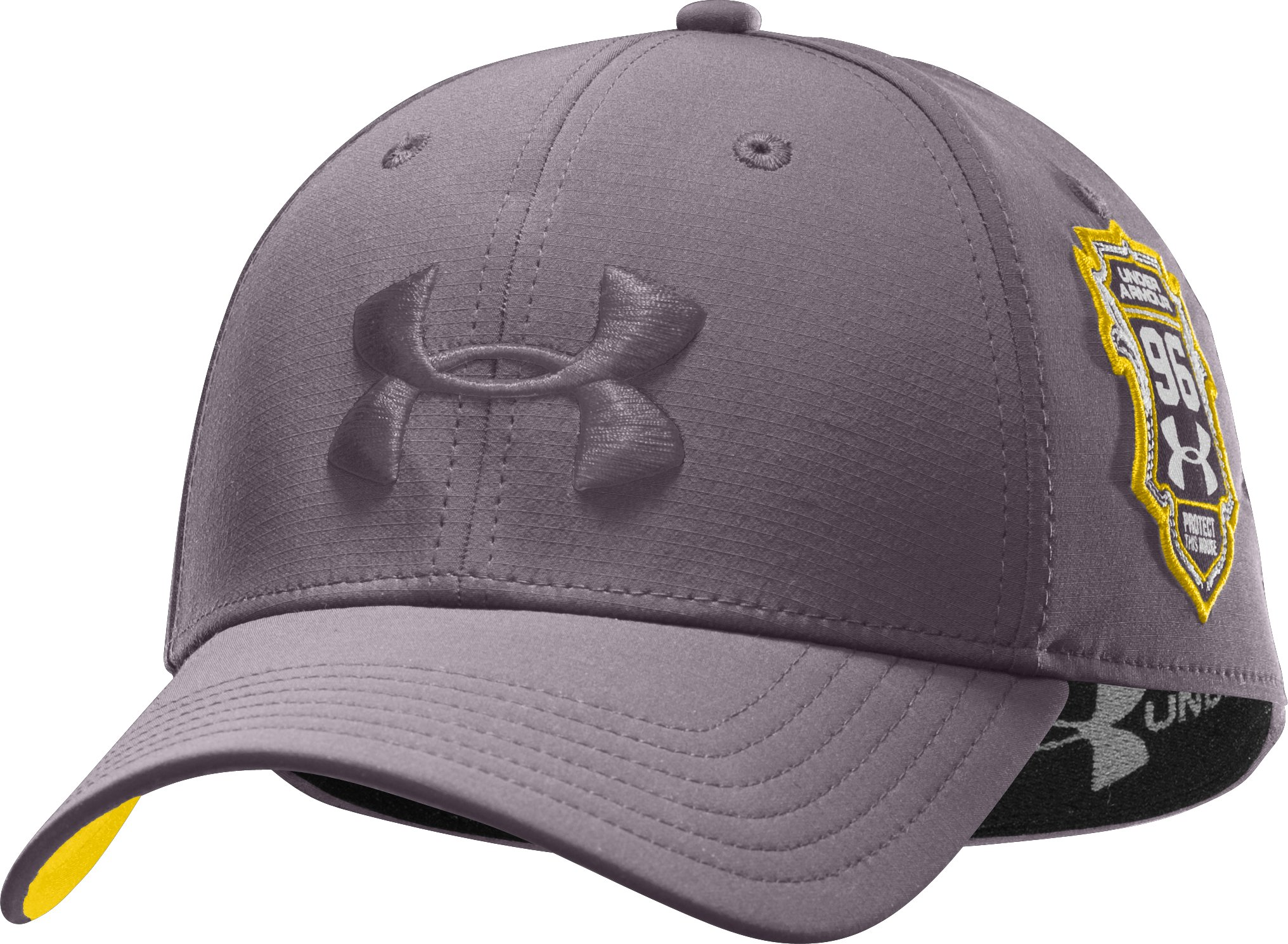 Men's UA Shield Stretch Fit Cap, Charcoal, zoomed image