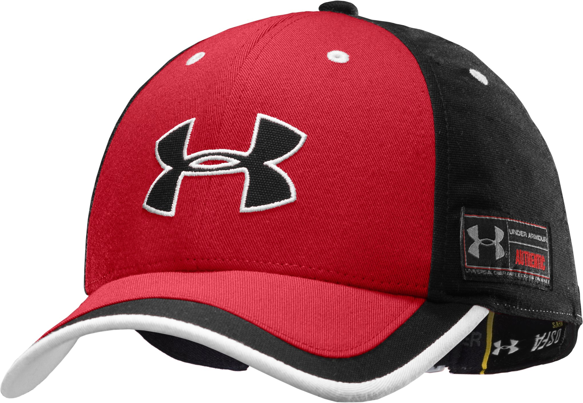 Men's UA Sideline Adjustable Cap, Red, zoomed image