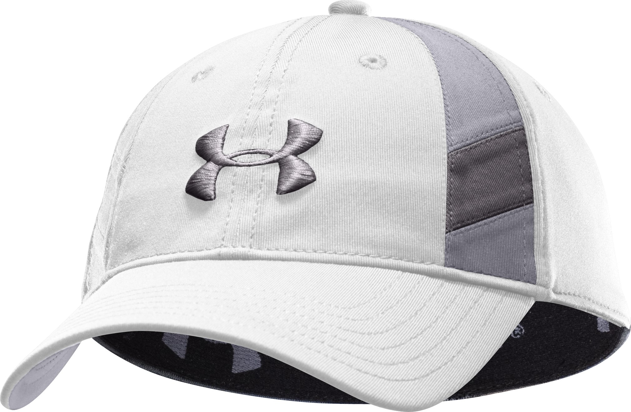 Men's coldblack® Golf Stretch Fit Cap, White, zoomed image