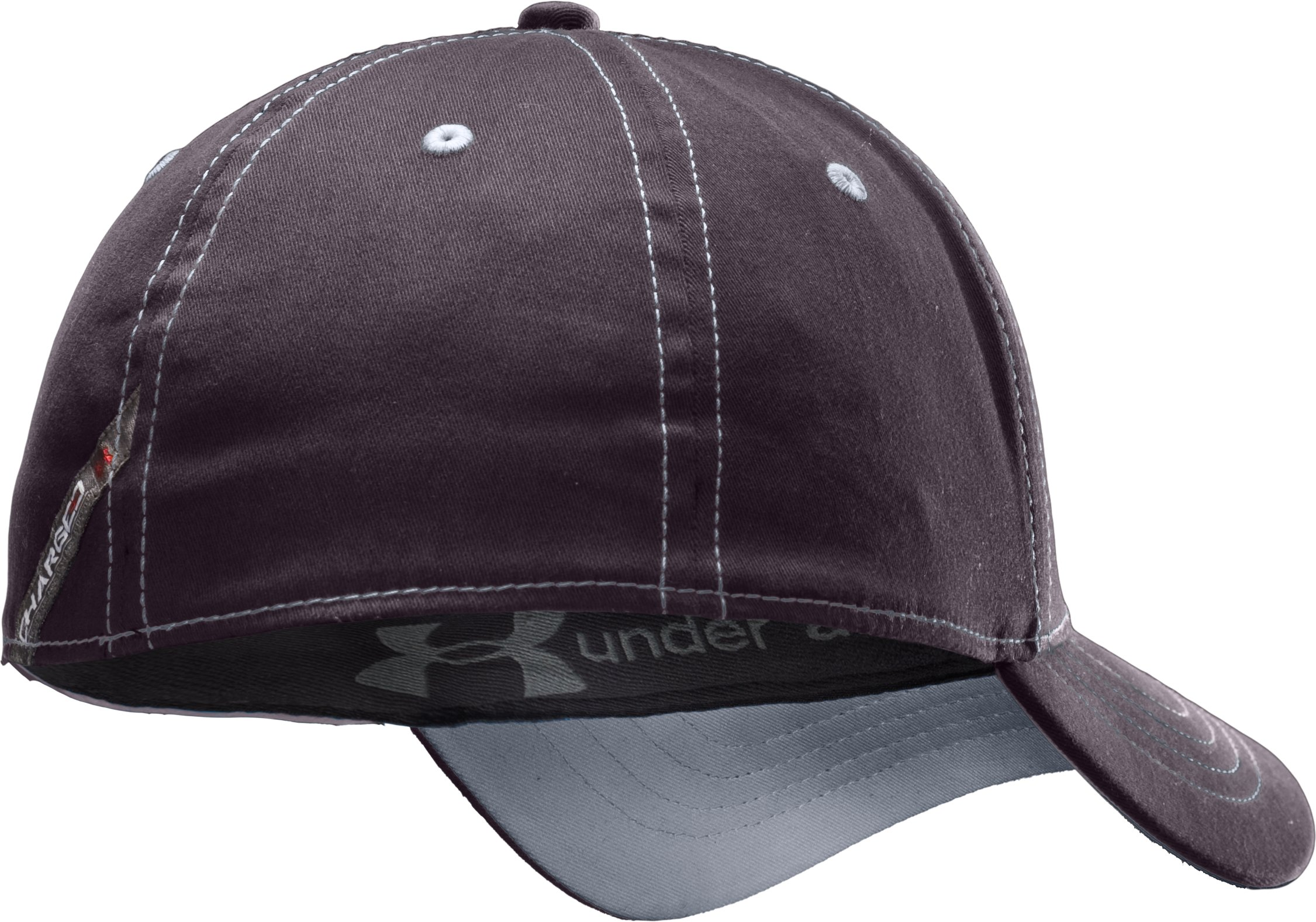 Men's Charged Cotton® Stretch Fit Cap, Charcoal