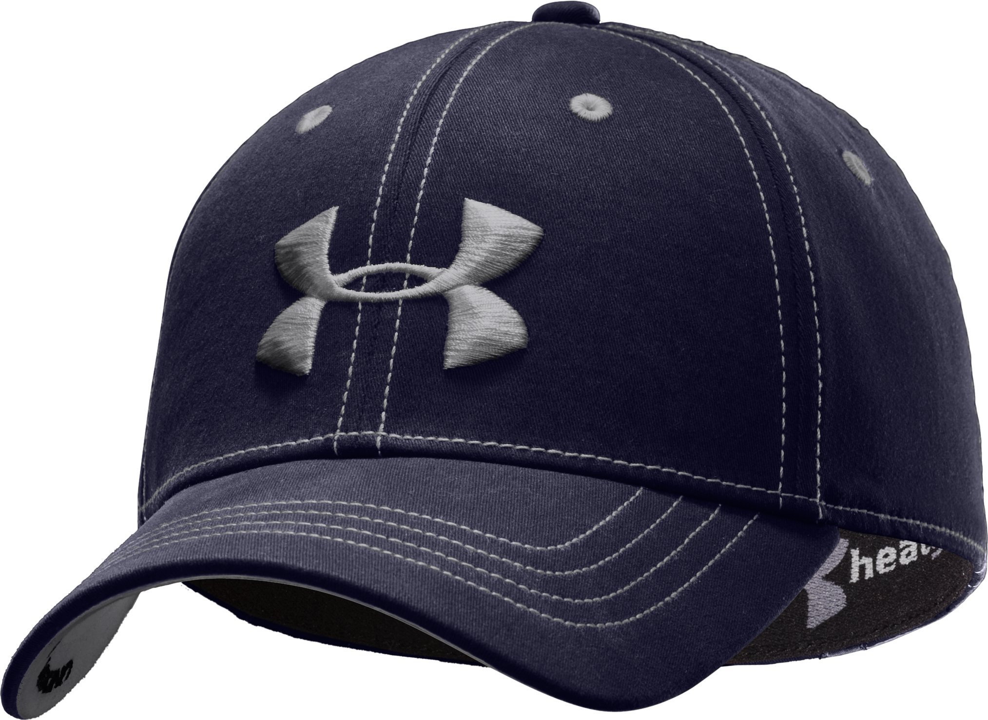 Men's Charged Cotton® Stretch Fit Cap, Midnight Navy, zoomed image