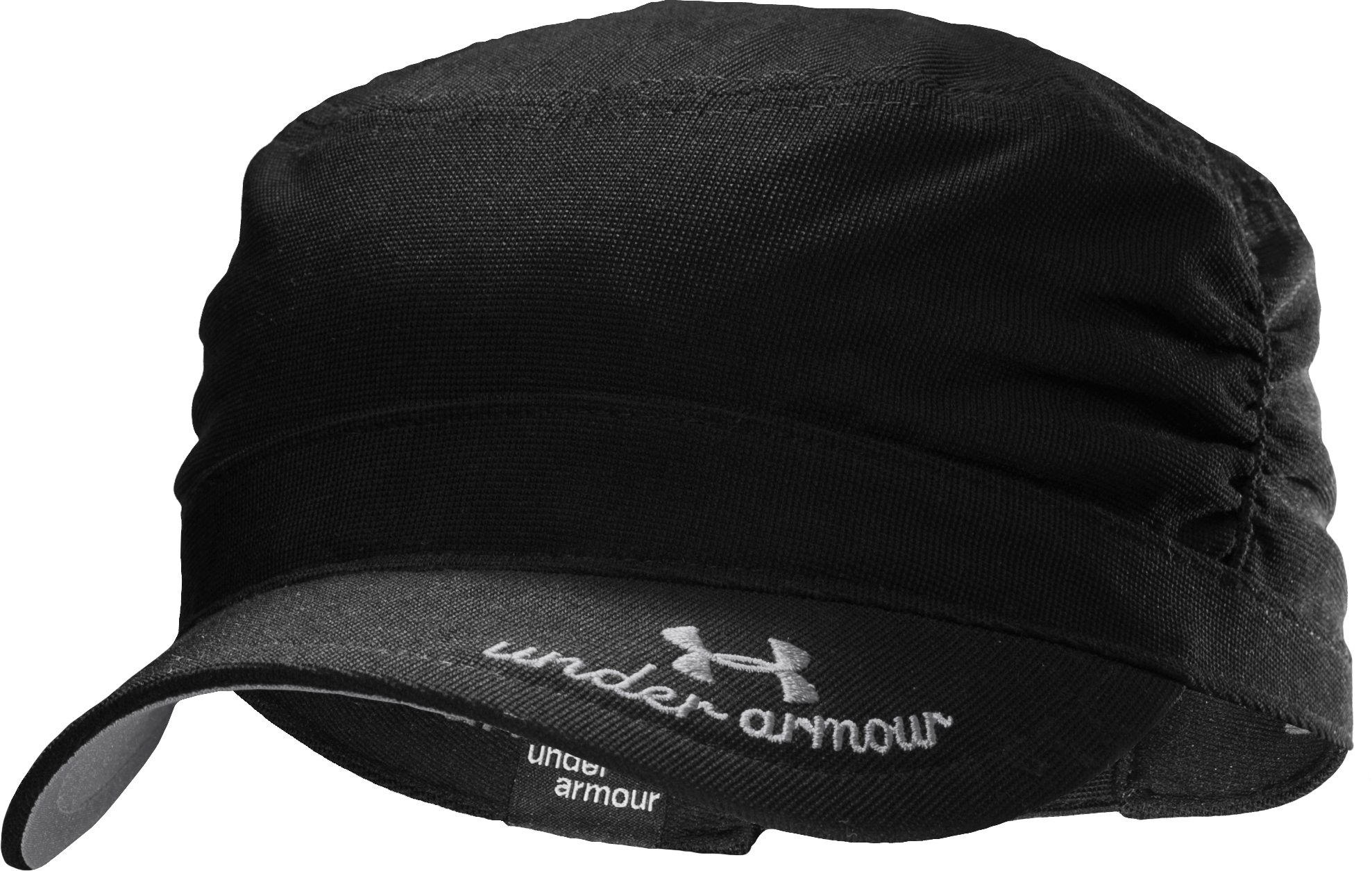 Women's UA Military Ruched Hat, Black , zoomed image