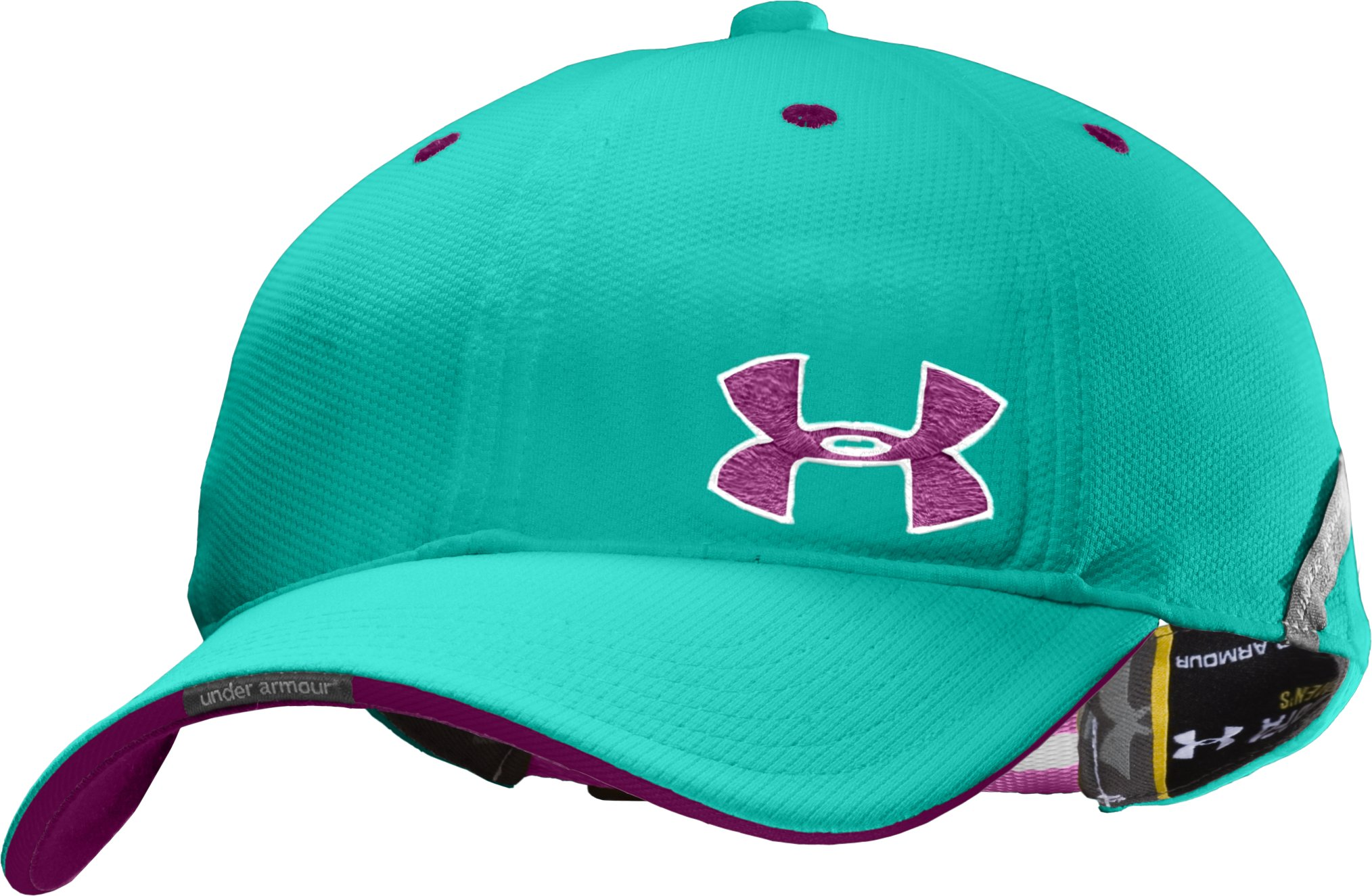 Women's UA Collegiate Adjustable Hat, Jade River,