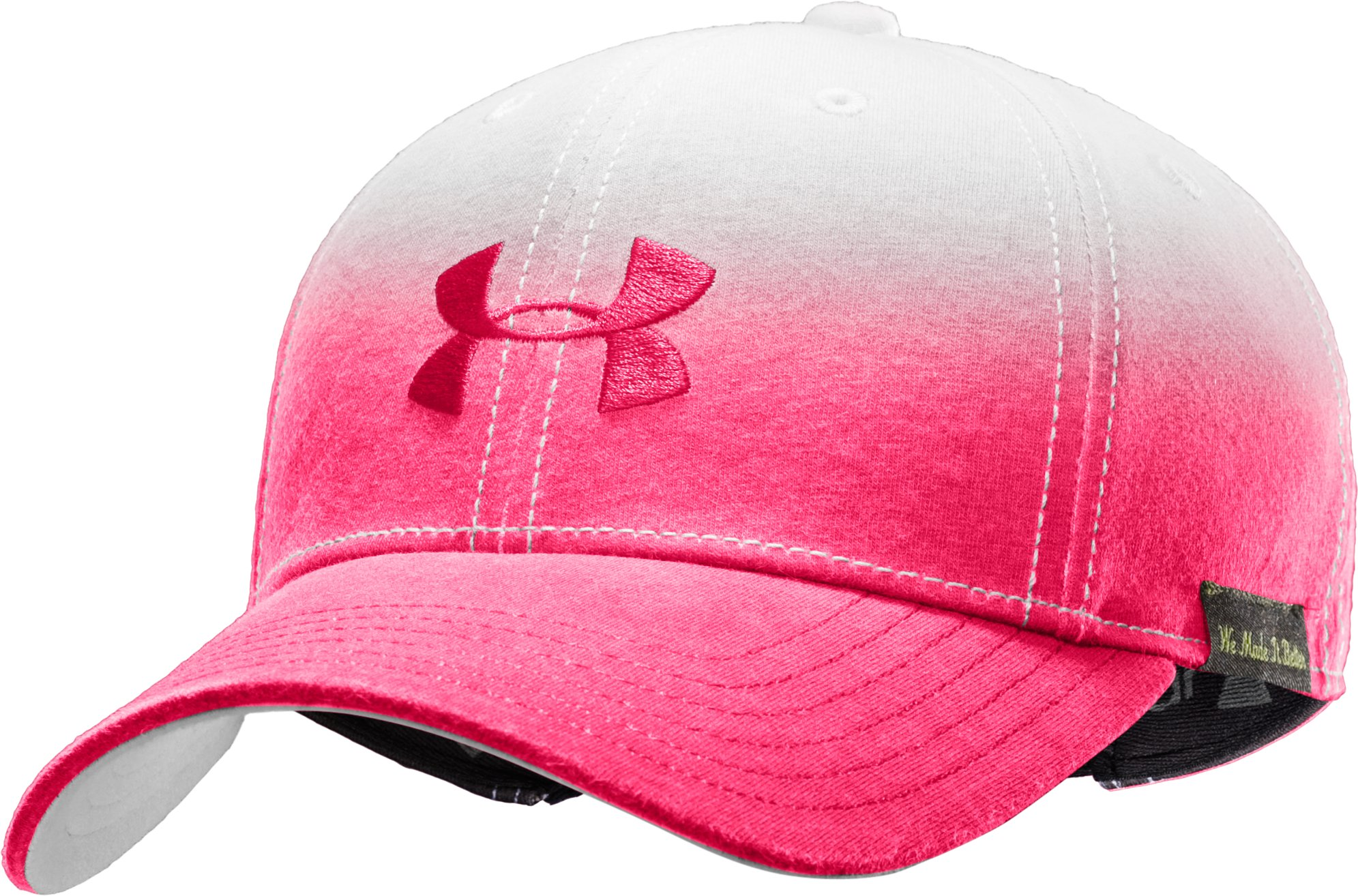 Women's Charged Cotton Dip Dye Adjustable Cap, White