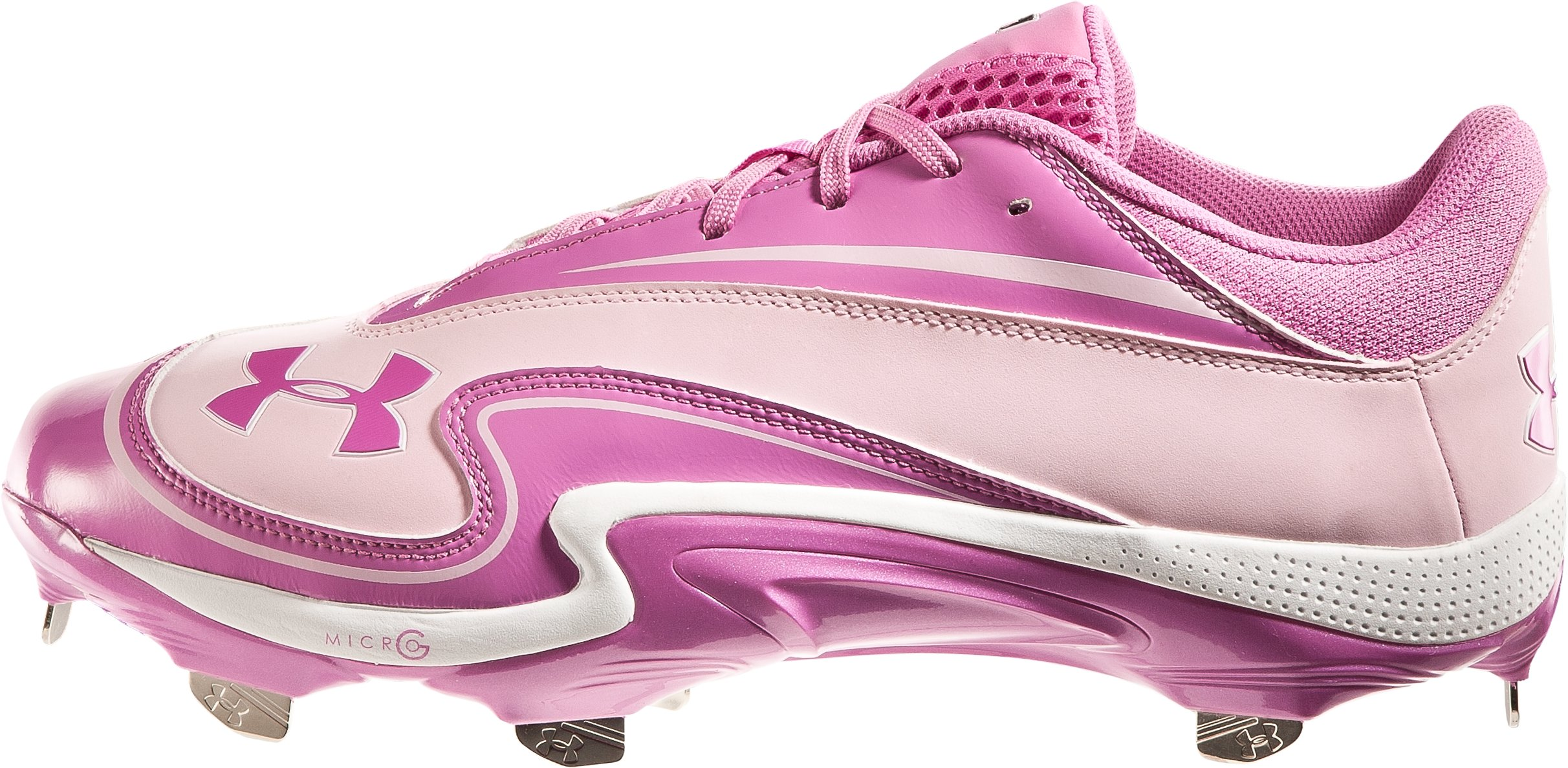 Men's UA Natural III Low ST Baseball Cleats - Special Edition, Pink Power, zoomed image
