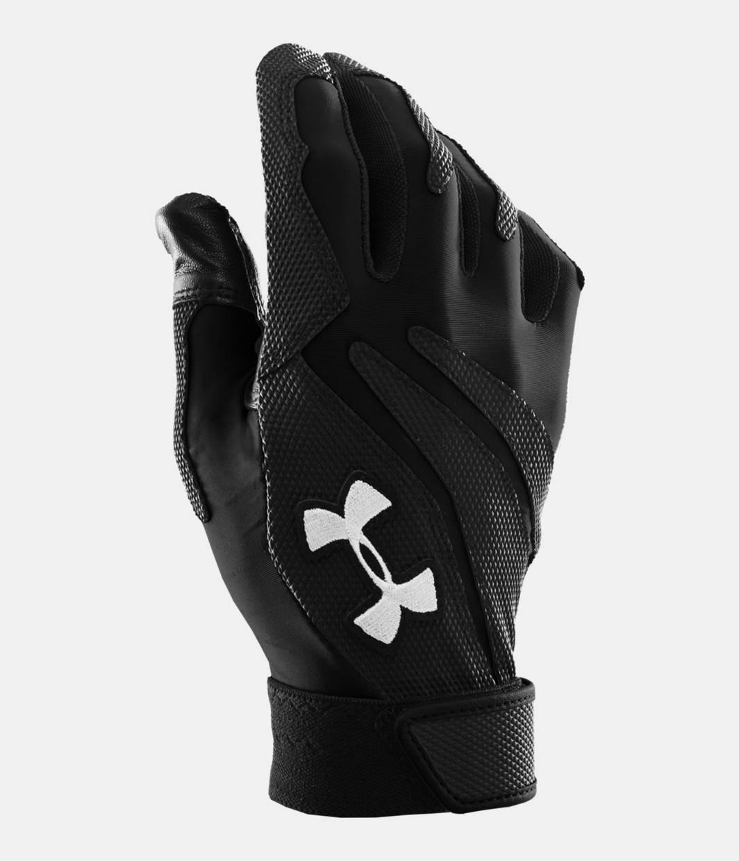 Black leather batting gloves - Men S Ua Clean Up Iv Batting Gloves Black Zoomed Image