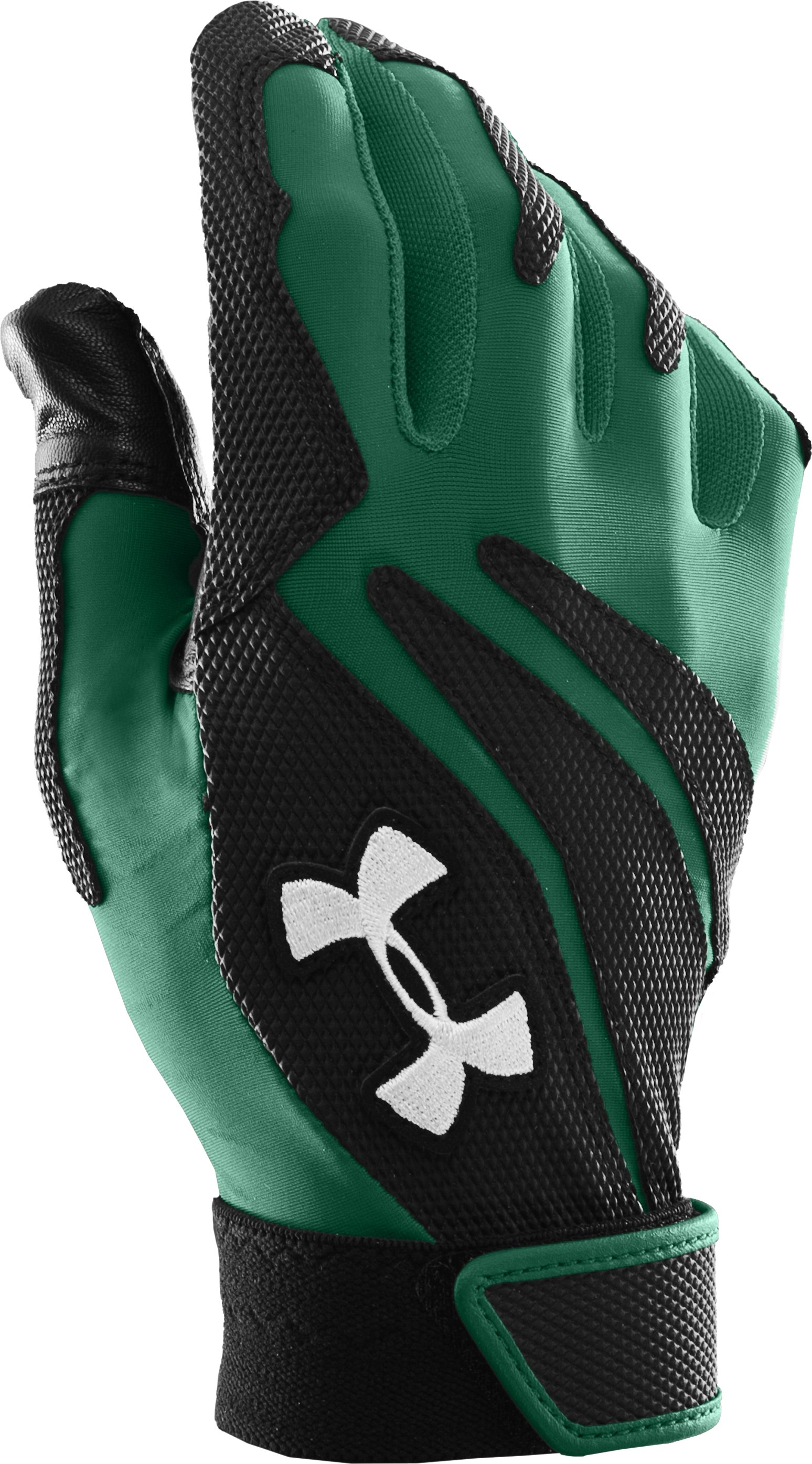 Men's UA Clean Up IV Batting Gloves, Forest Green, zoomed image
