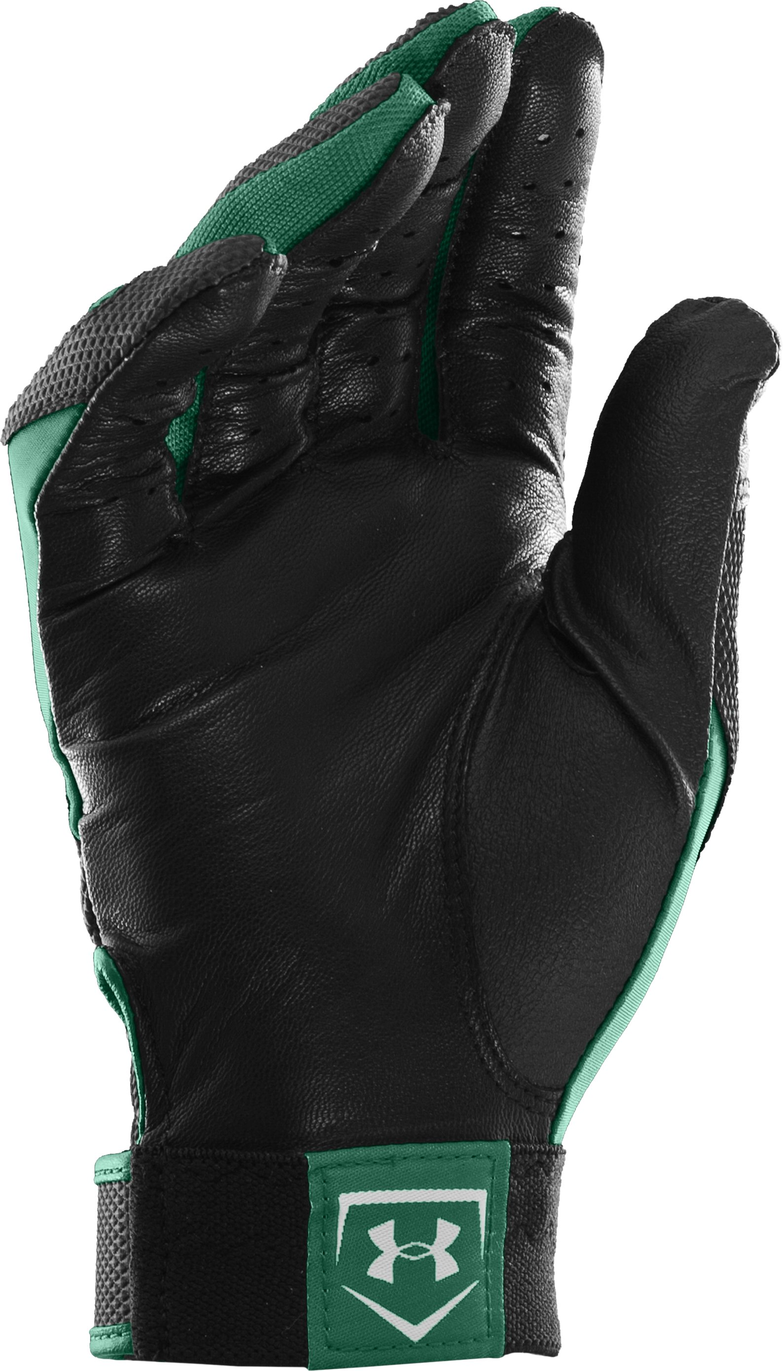 Men's UA Clean Up IV Batting Gloves, Forest Green