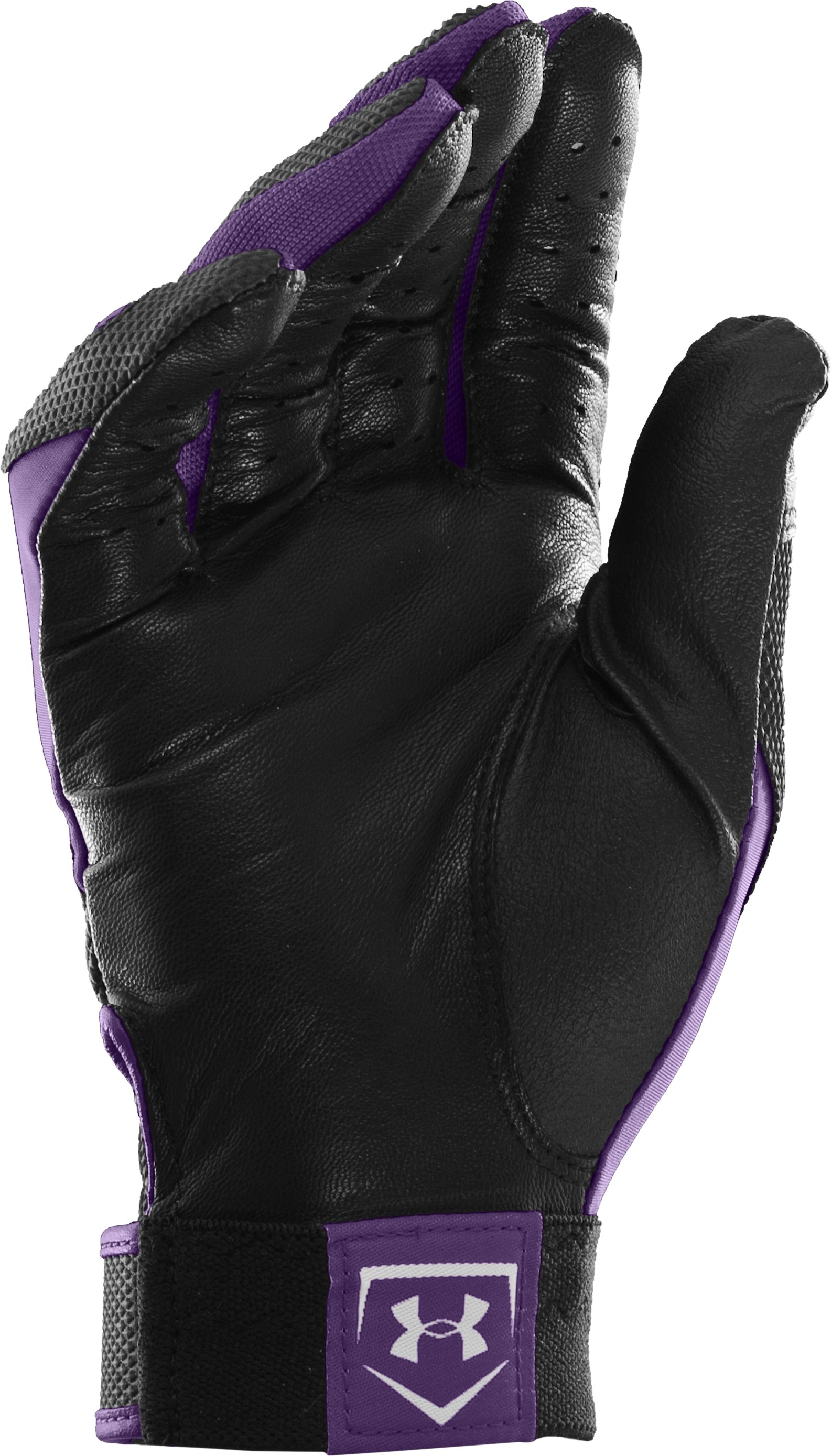 Men's UA Clean Up IV Batting Gloves, Purple, undefined