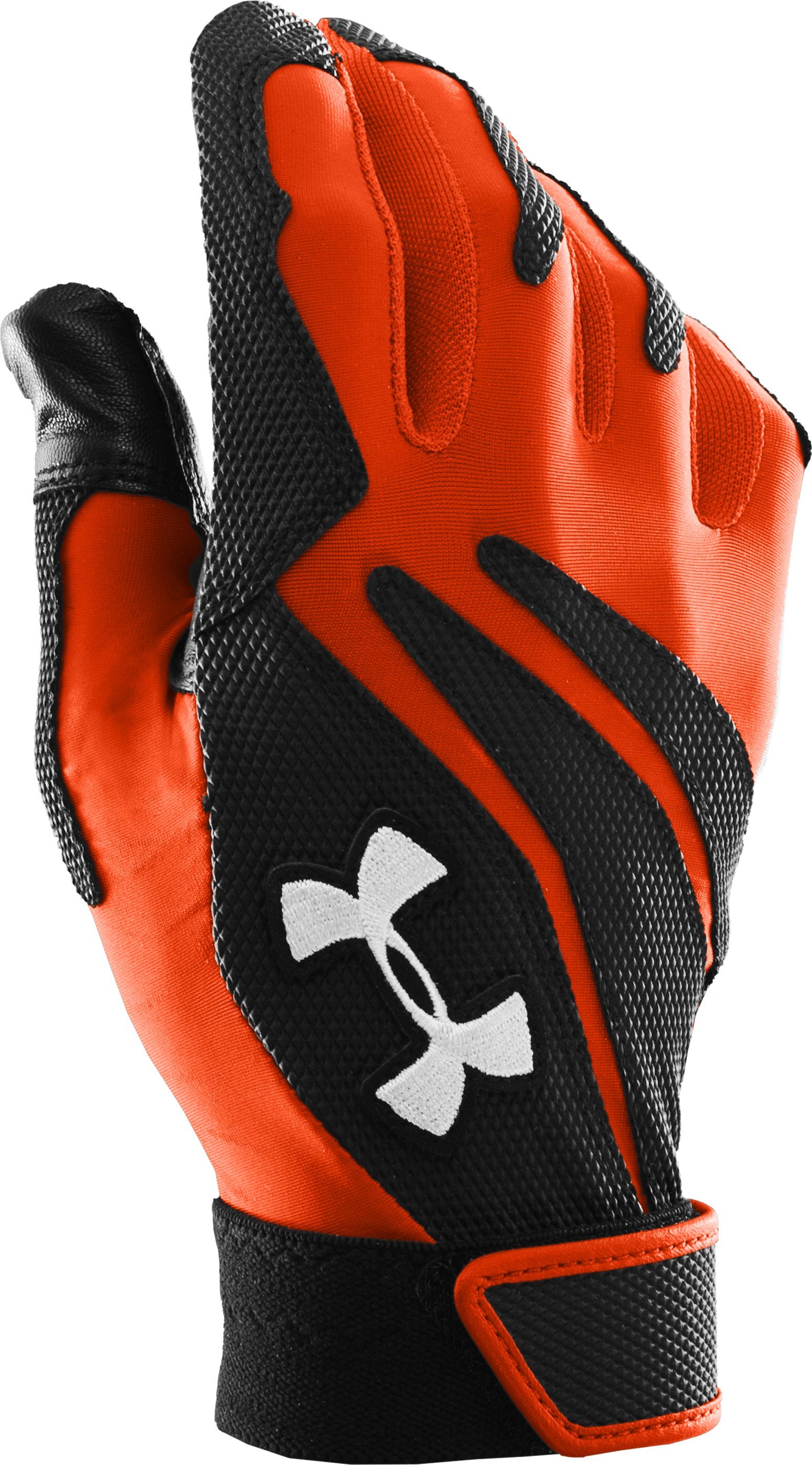 Men's UA Clean Up IV Batting Gloves, Dark Orange