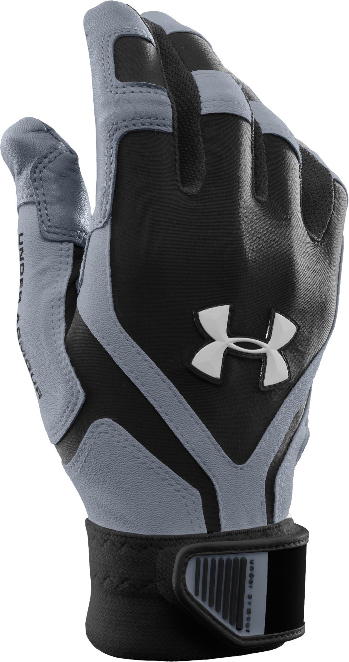 Men's UA Cage Batting Gloves, Black