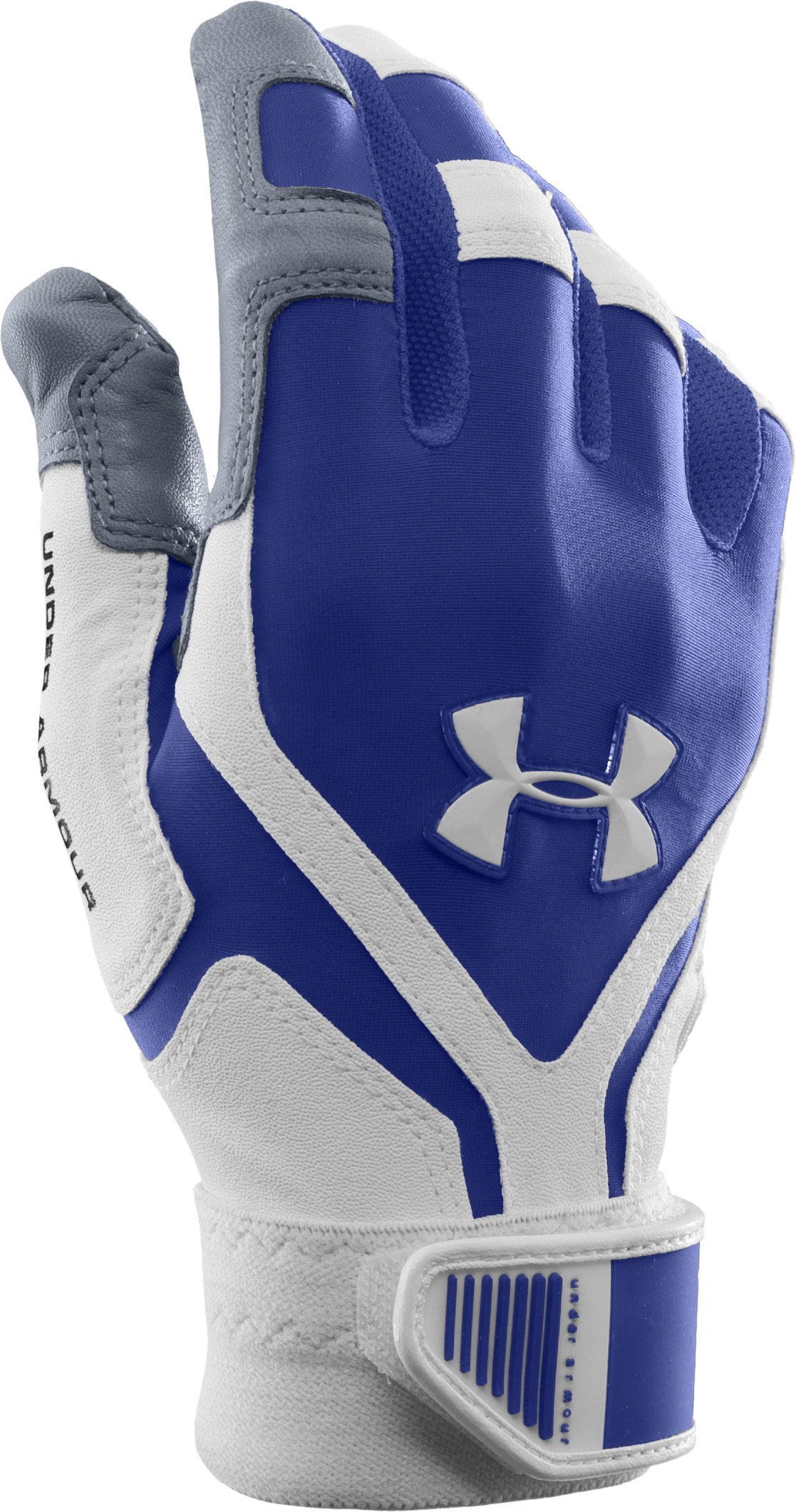 Men's UA Cage Batting Gloves, Royal, zoomed image