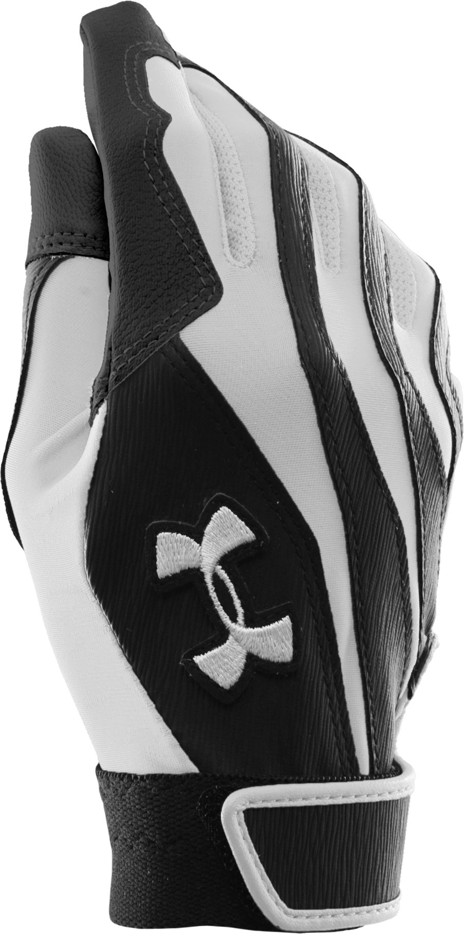 Women's UA Radar II Batting Gloves, White, zoomed image