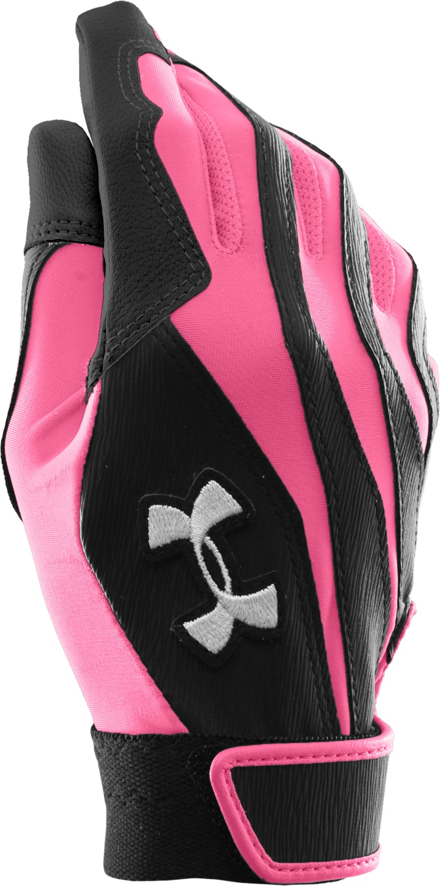 Women's UA Radar II Batting Gloves, Fluo Pink, zoomed image