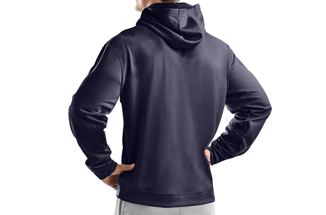 Men's Armour® Fleece Team Hoodie, Midnight Navy