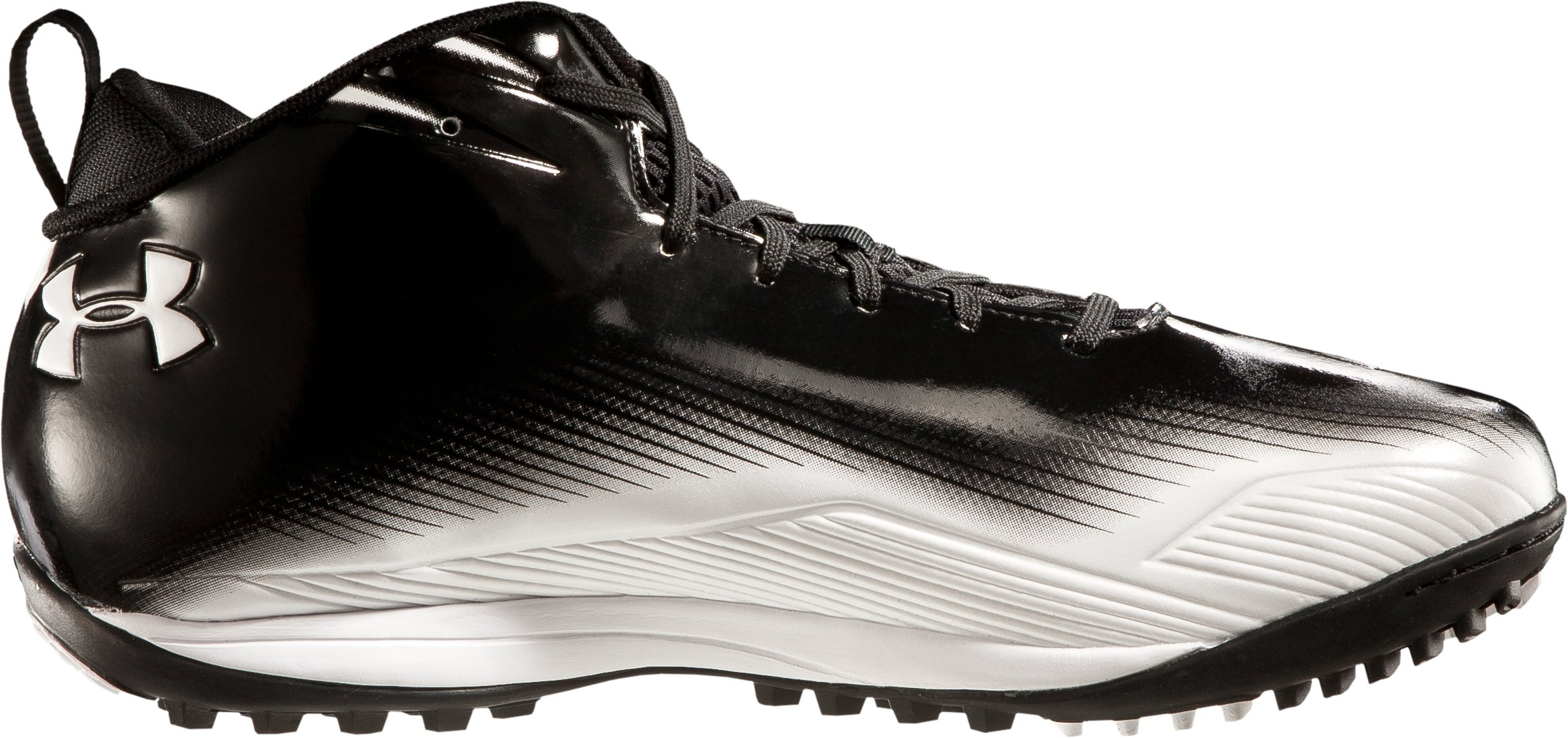 Men's UA Nitro III Mid-Cut Molded Lacrosse Turf Shoes, Black