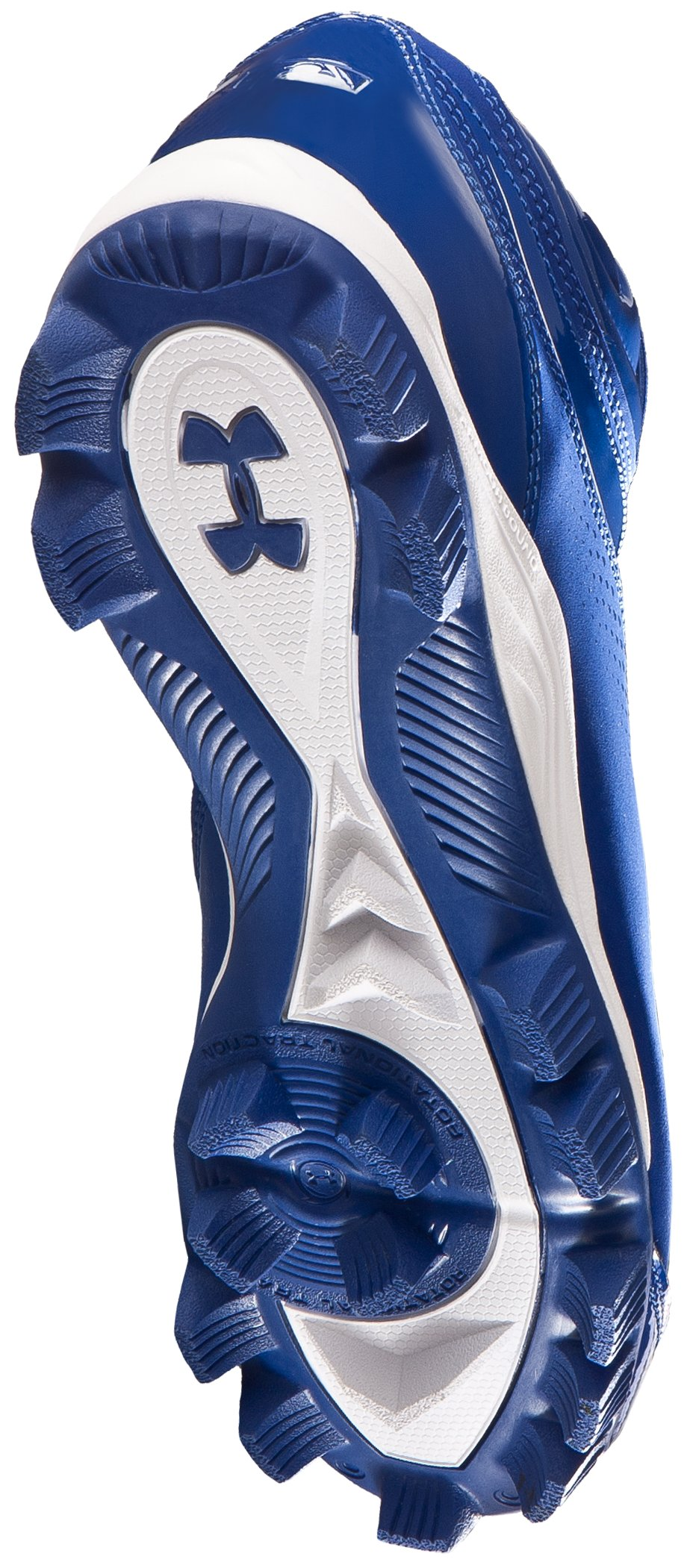 Men's UA Leadoff IV Mid-Cut Rubber Baseball Cleats, Diamond Blue