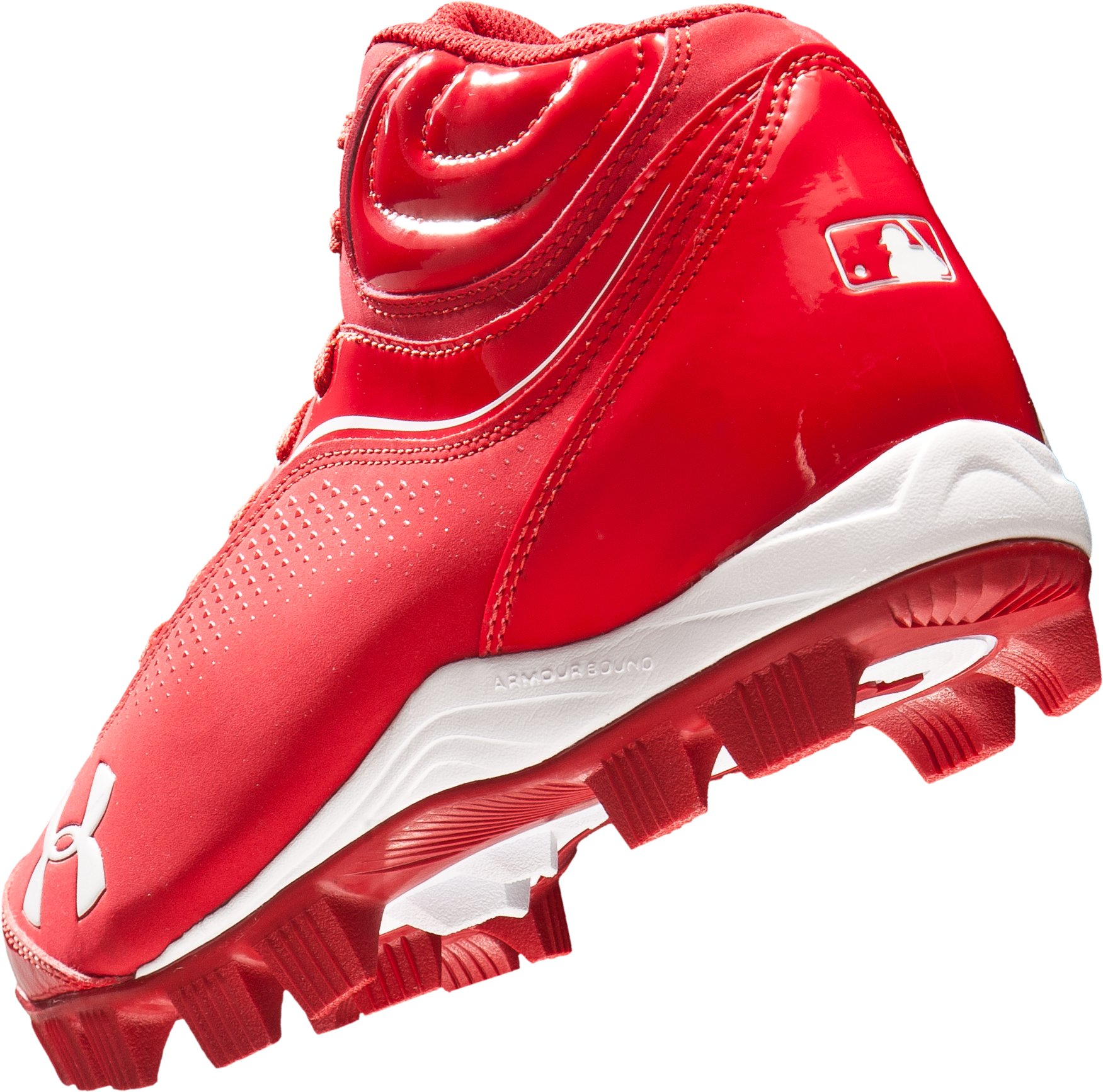 Men's UA Leadoff IV Mid-Cut Rubber Baseball Cleats, Red
