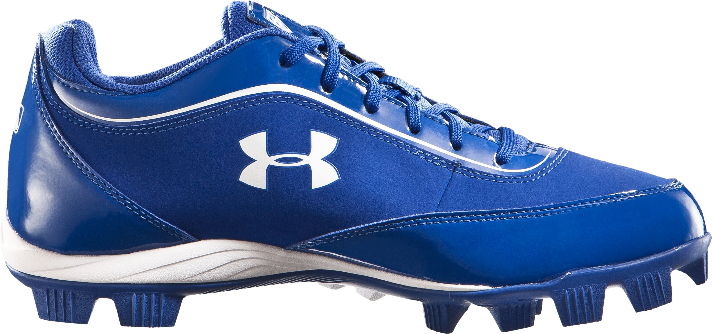 Men's UA Leadoff IV Low-Cut Rubber Baseball Cleats, Diamond Blue, zoomed image