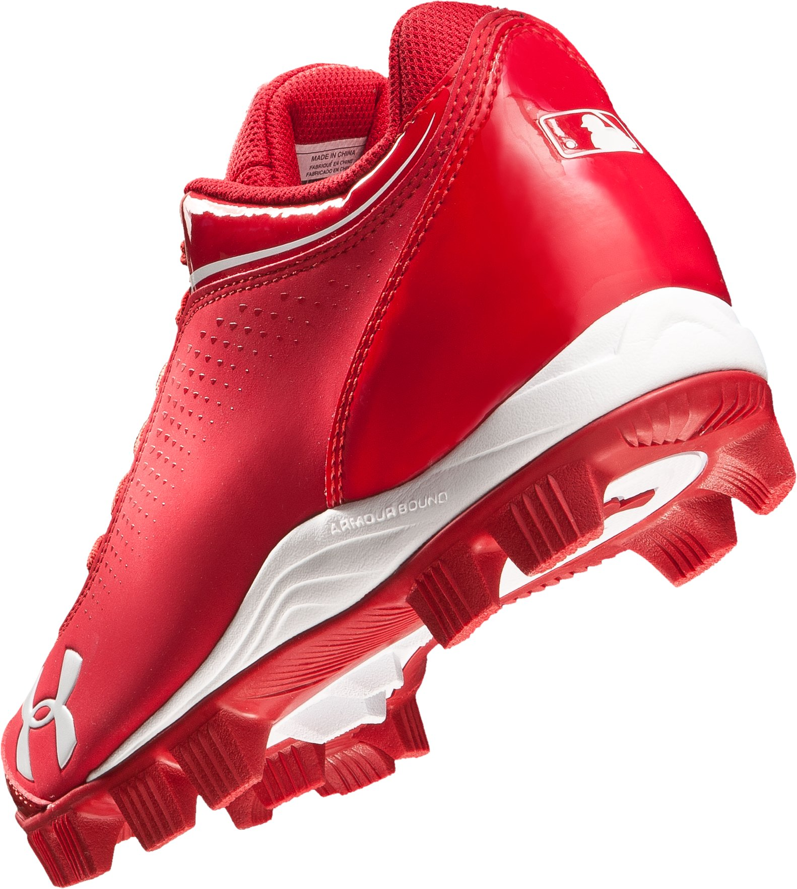 Men's UA Leadoff IV Low-Cut Rubber Baseball Cleats, Red