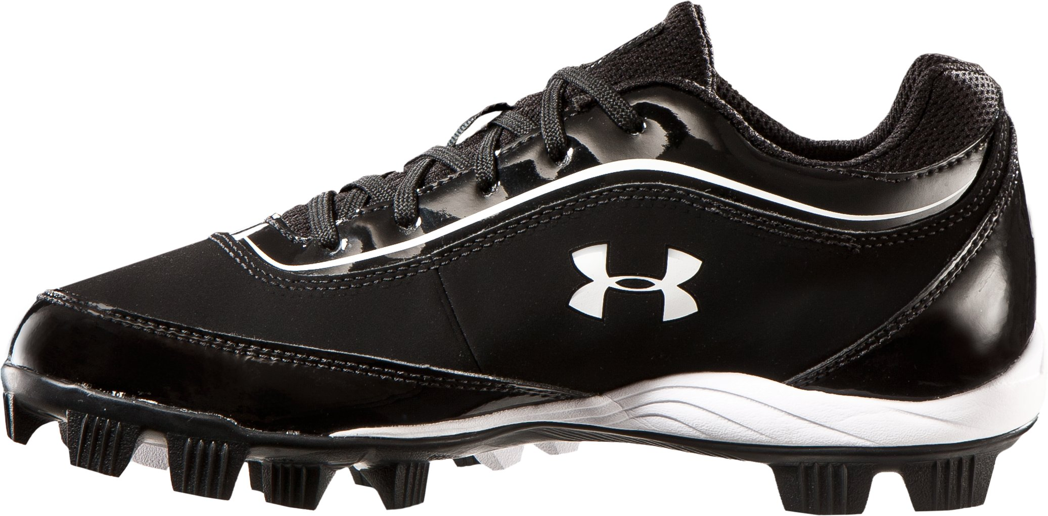 Boys' UA Leadoff IV Jr. Low-Cut Rubber Baseball Cleats, Black