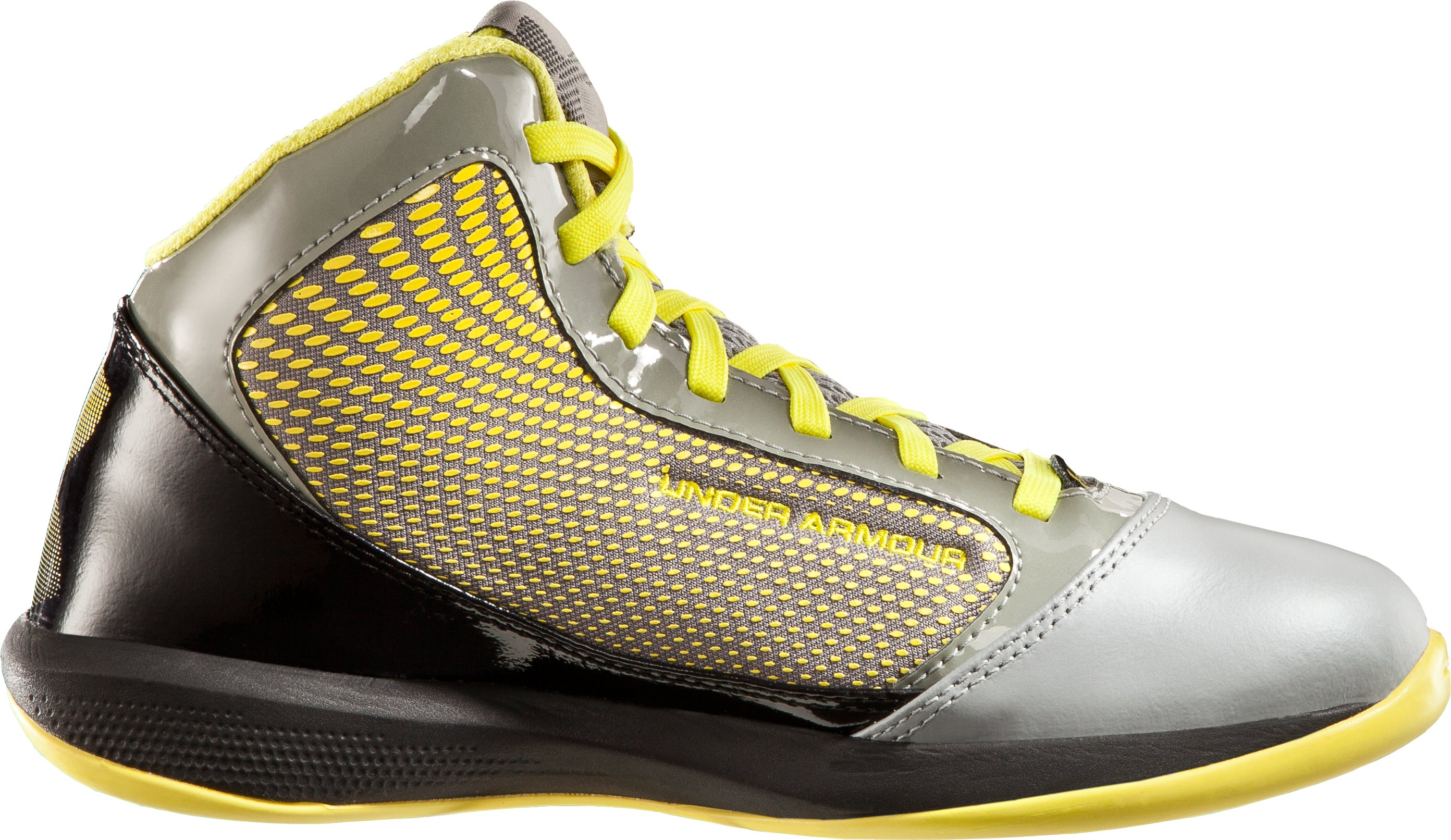 Boys' UA Jet Grade School Basketball Shoes, Steel