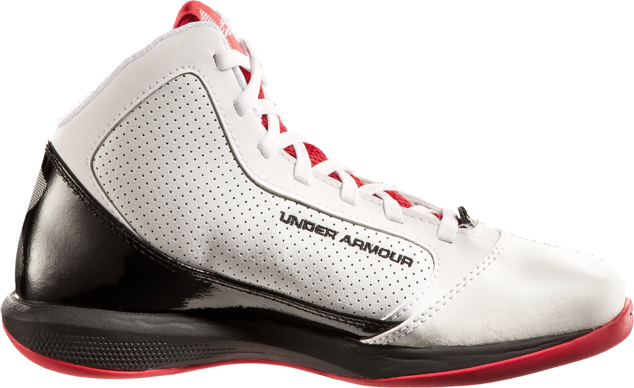 Boys' UA Jet Grade School Basketball Shoes, White, undefined