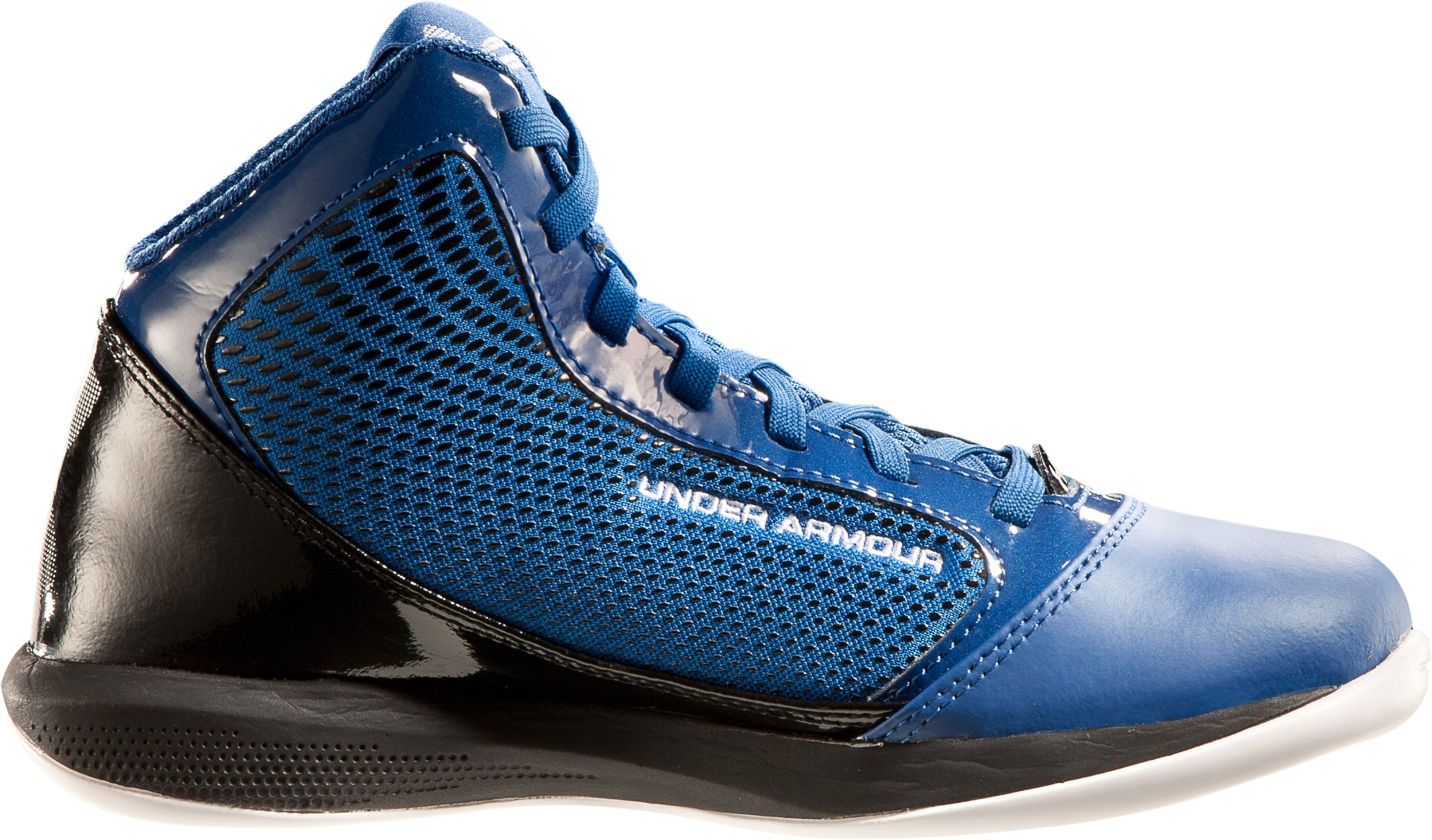 Boys' UA Jet Grade School Basketball Shoes, Royal